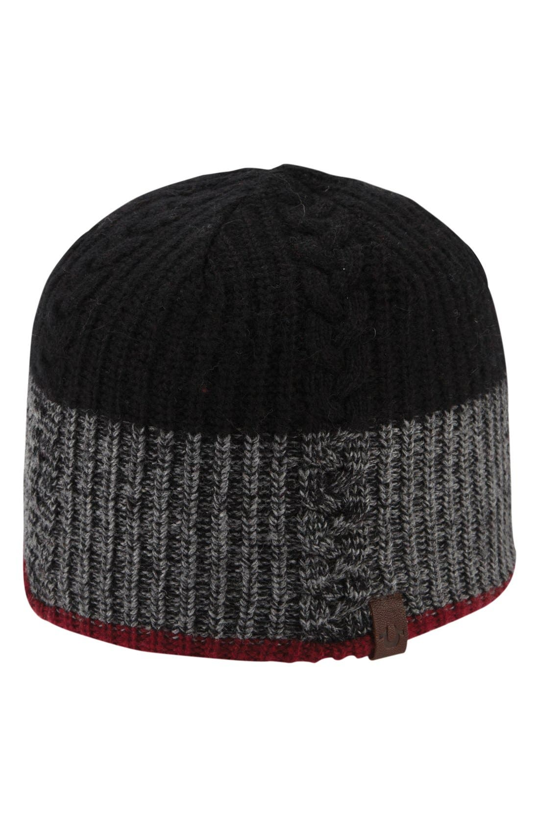 Alternate Image 1 Selected - True Religion Brand Jeans Cable Knit Cap