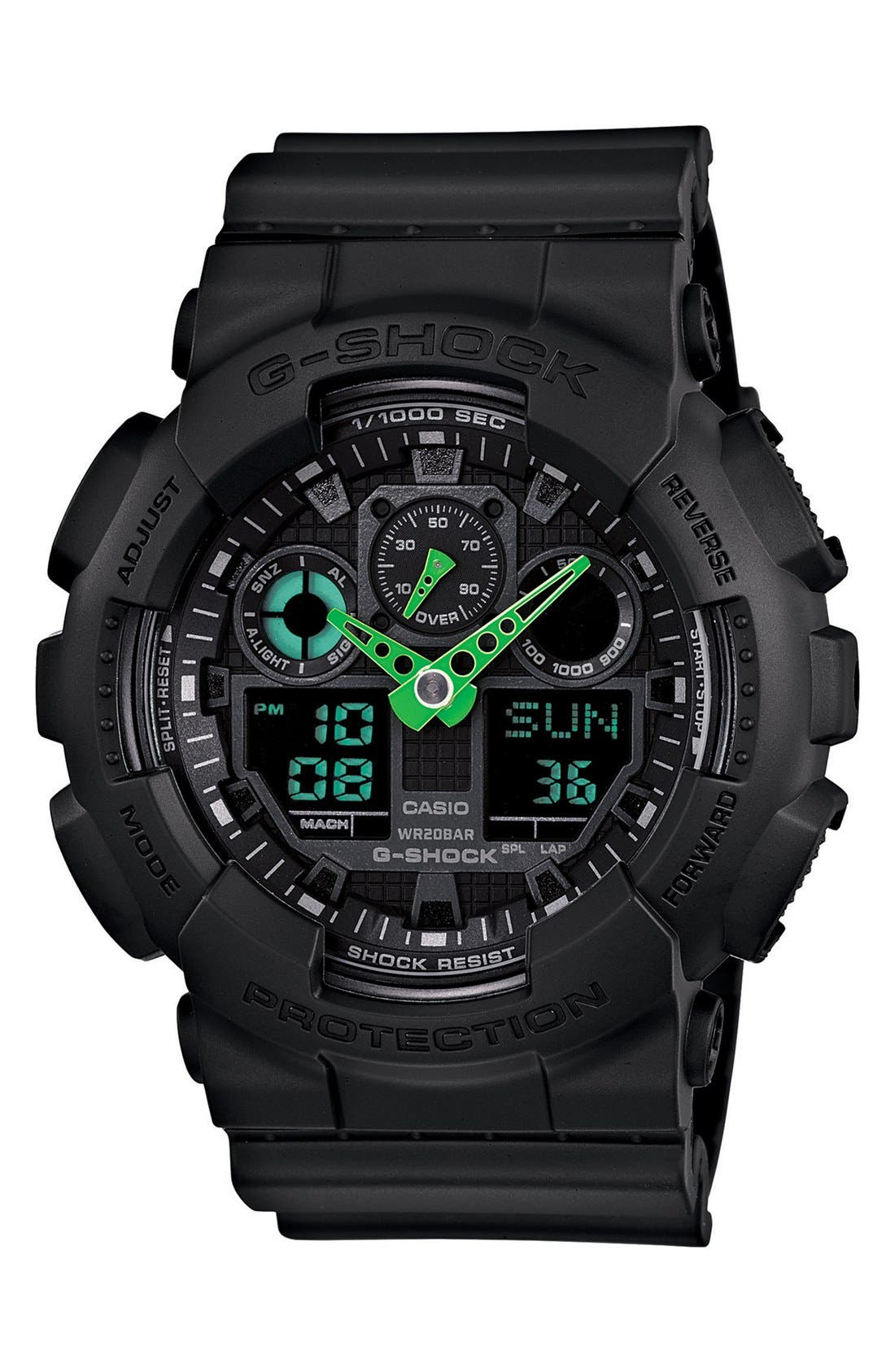 Alternate Image 1 Selected - G-Shock 'Neon Highlights' Ana-Digi Watch, 55mm