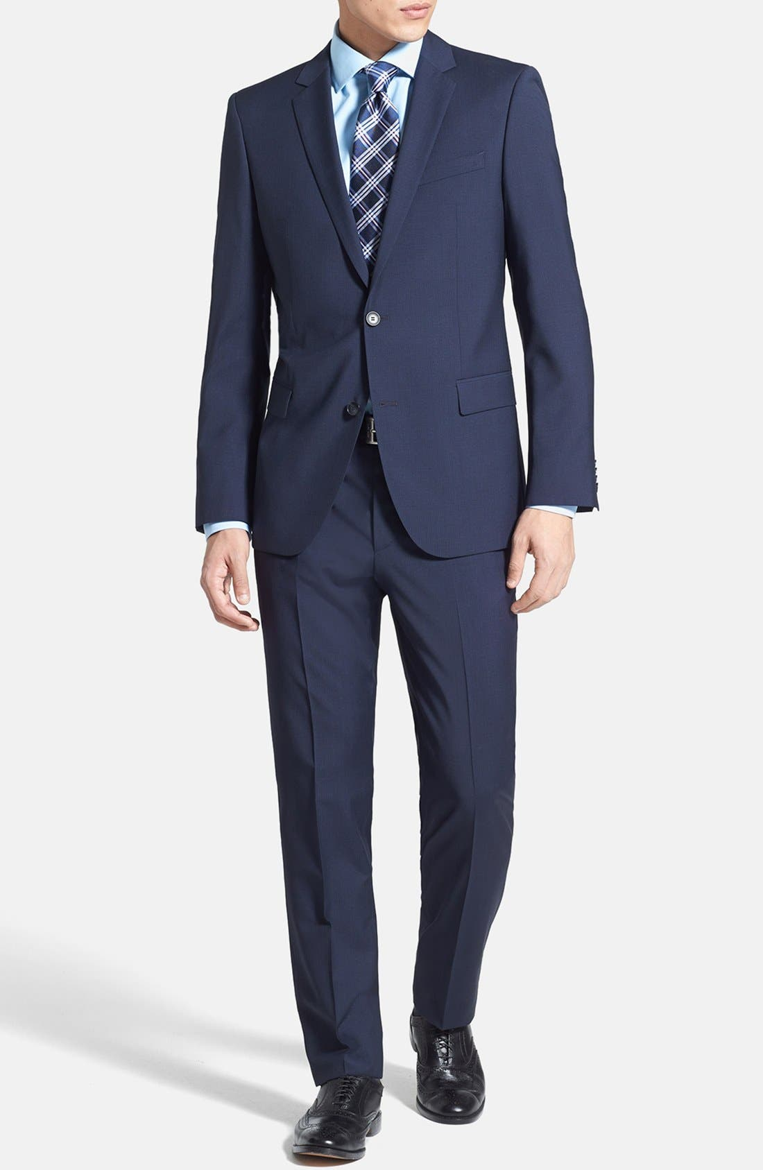 Alternate Image 1 Selected - HUGO 'Astro/Hill' Extra Trim Fit Suit