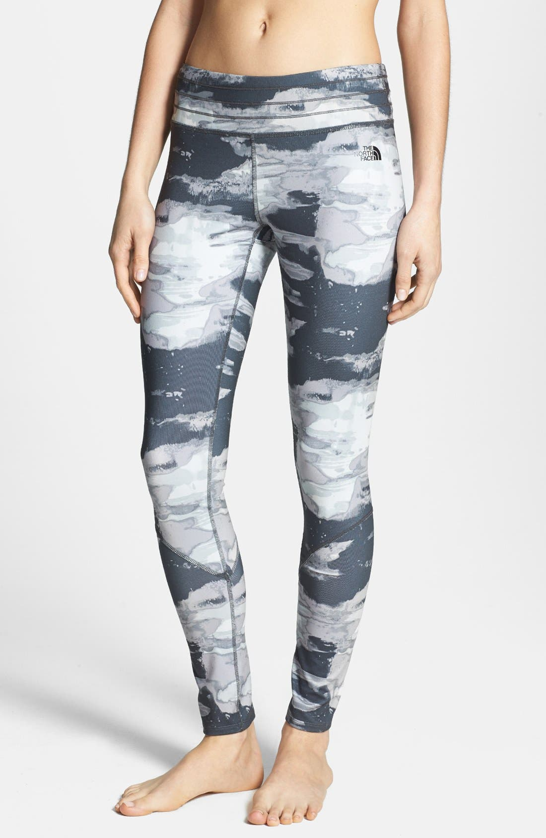 'Tadasana' Leggings,                         Main,                         color, Asphalt Grey Print