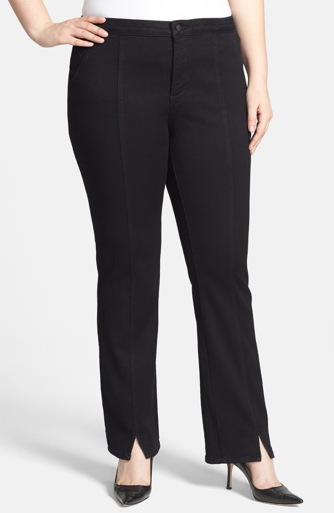 Alternate Image 1 Selected - NYDJ Seamed Stretch Straight Leg Jeans (Plus Size)