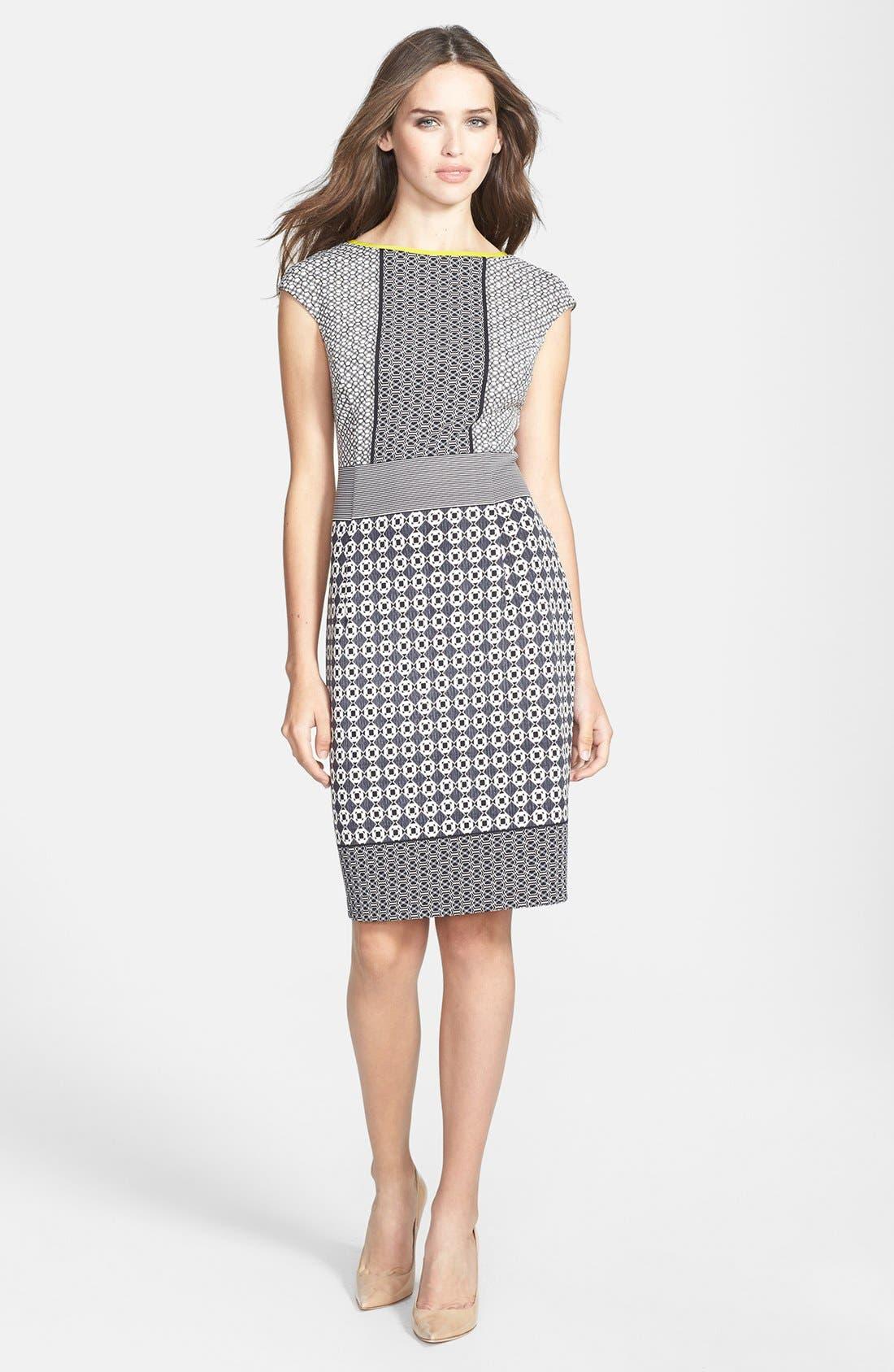 Alternate Image 2  - Maggy London Scuba Sheath Dress