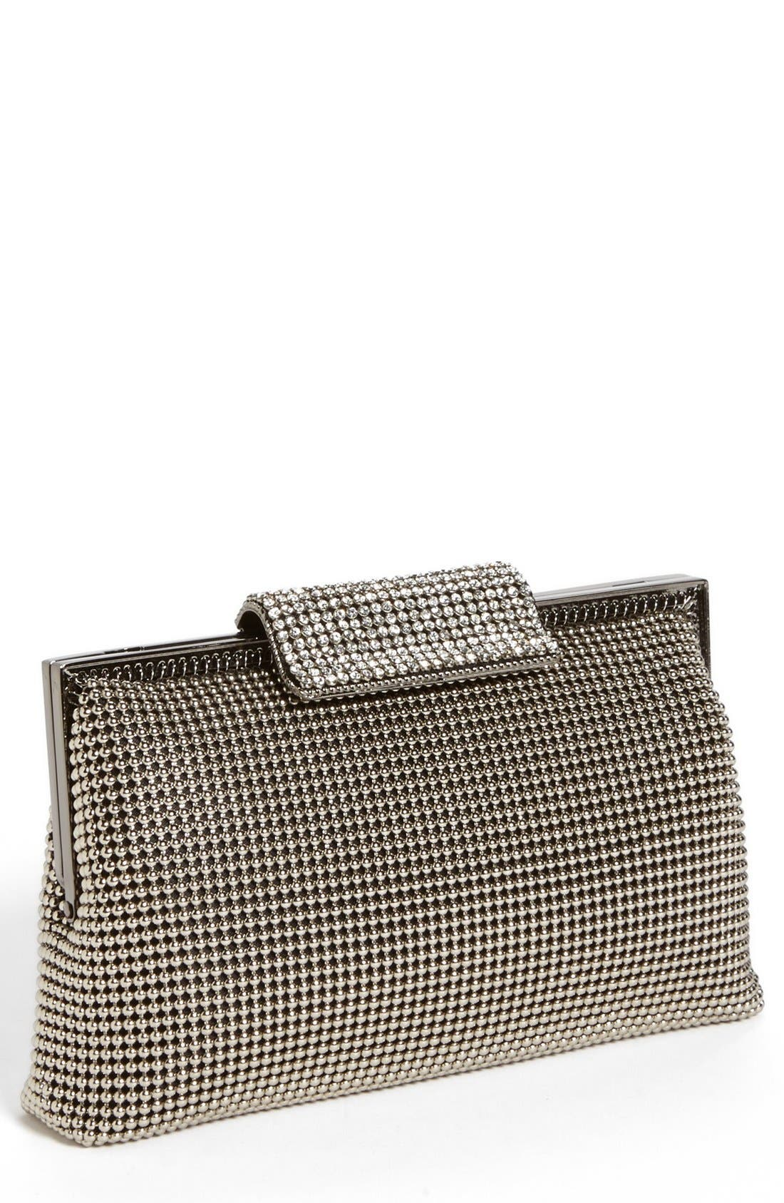 CRYSTAL FRAME CLUTCH - METALLIC