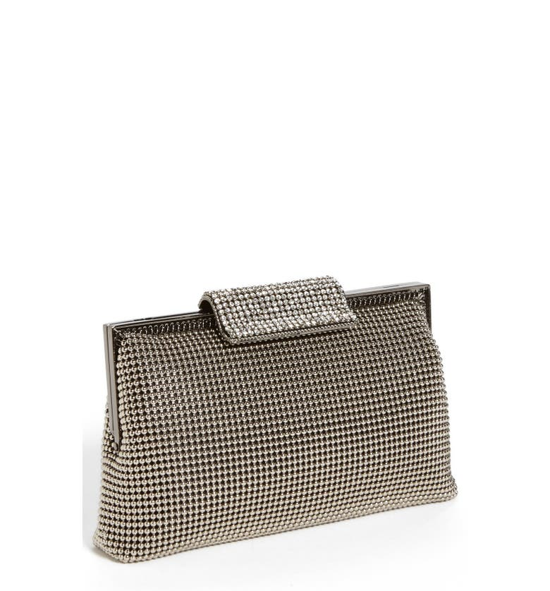 Crystal Frame Clutch,                         Main,                         color, Silver