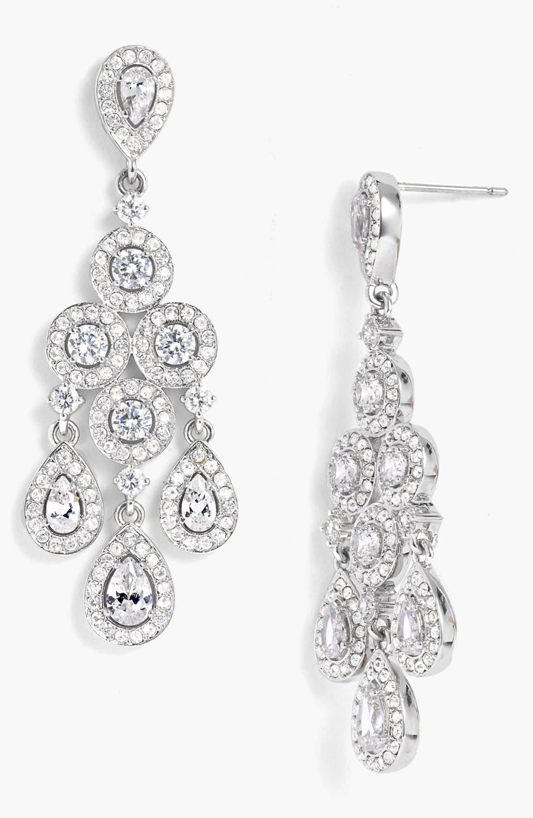 Alternate Image 1 Selected - Nadri Framed Chandelier Earrings