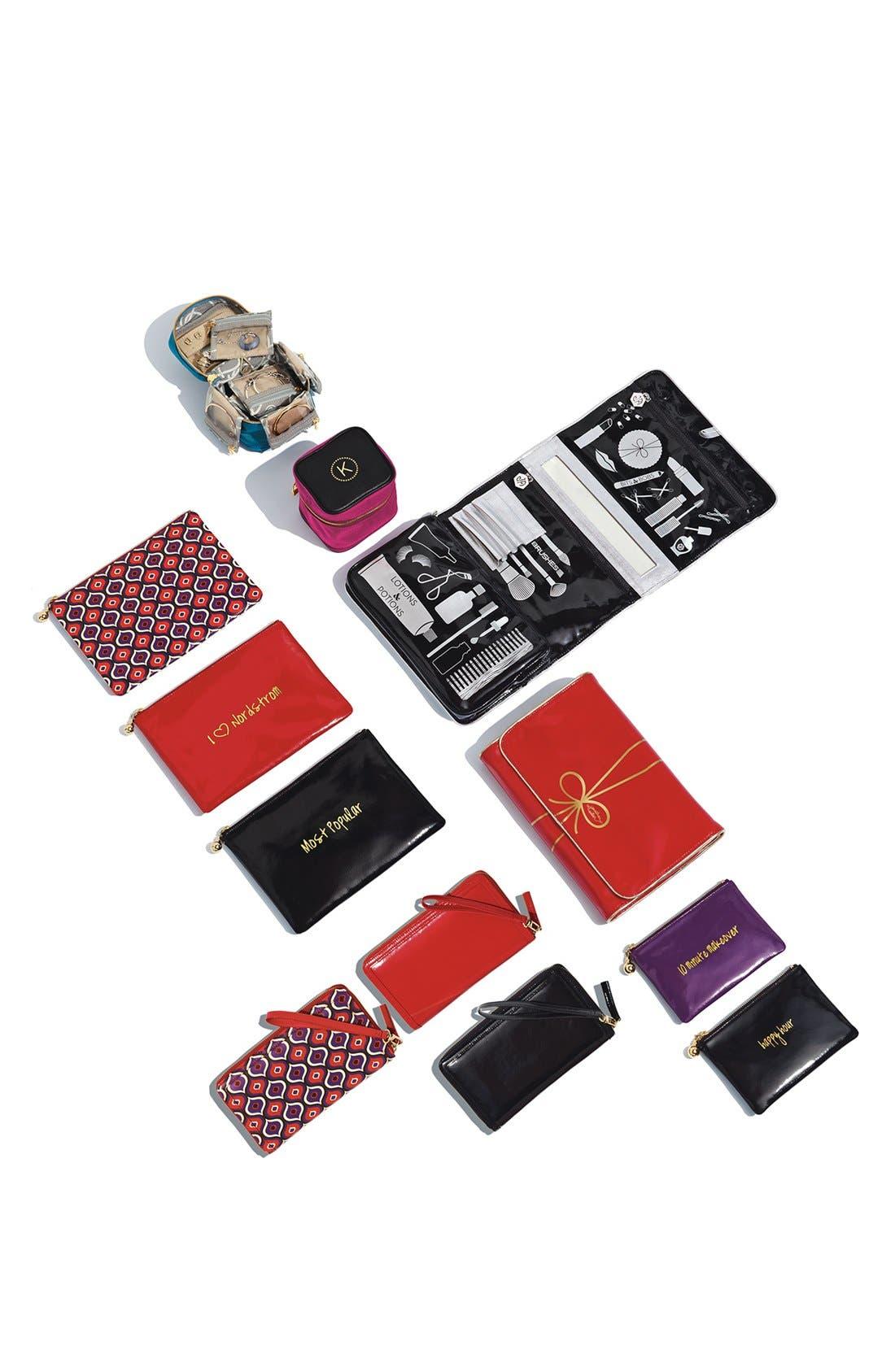 Alternate Image 5  - Halogen® 'Hypergraphic' Leather Zip-Around Wallet