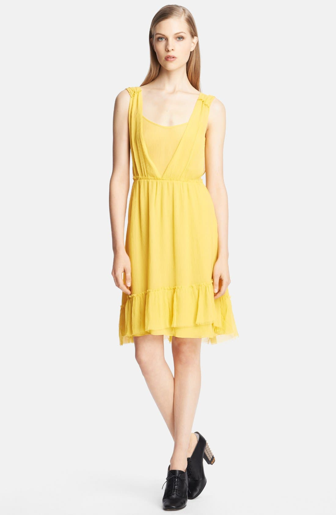 Alternate Image 1 Selected - Band of Outsiders Tiered Silk Dress