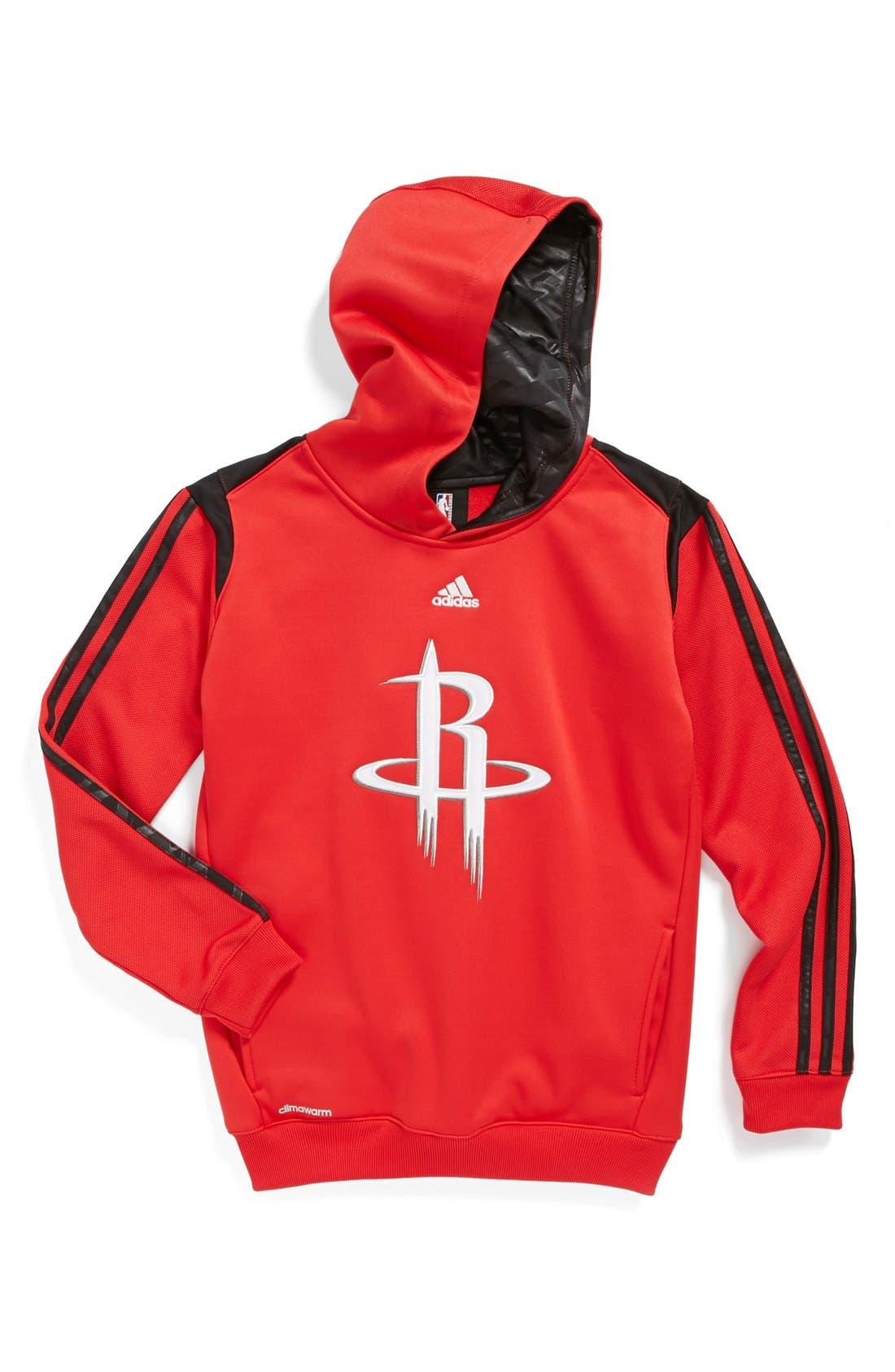 Alternate Image 1 Selected - adidas 'Houston Rockets - On Court' Hoodie (Big Boys)