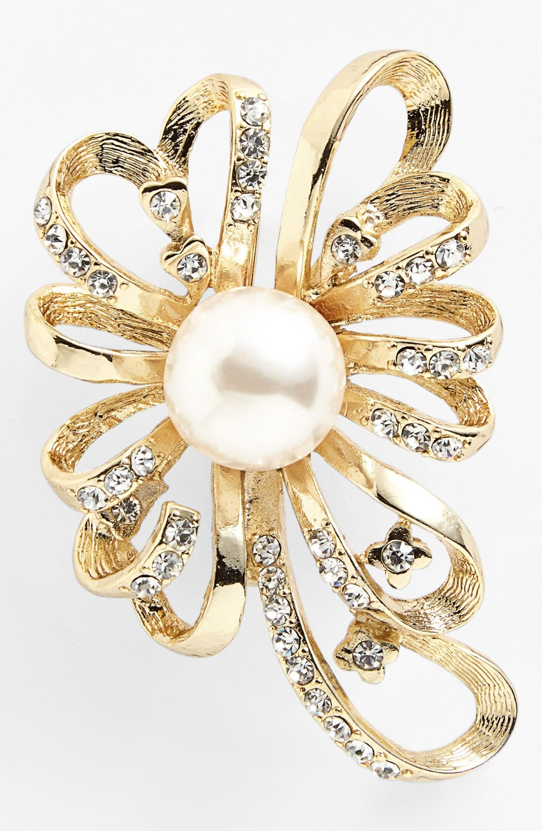 Alternate Image 1 Selected - Anne Klein Faux Pearl Statement Pin