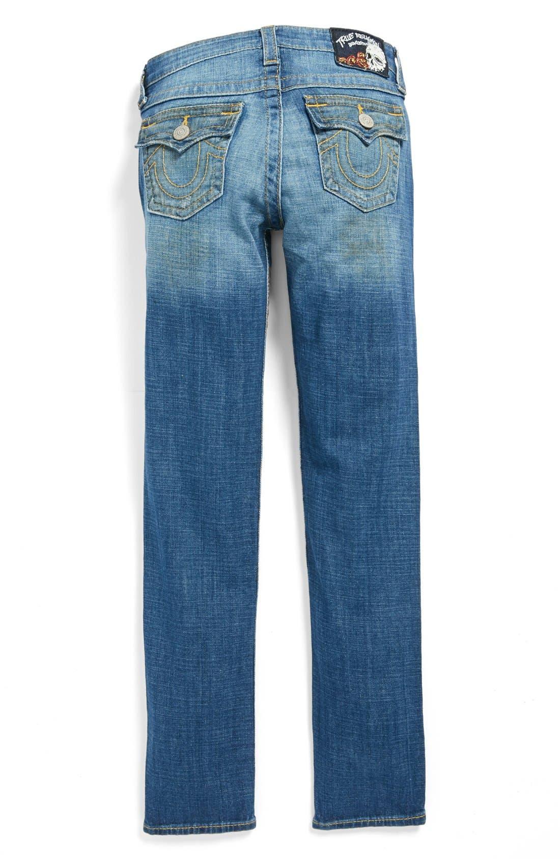 Main Image - True Religion Brand Jeans 'Julie' Straight Leg Jeans (Big Girls)