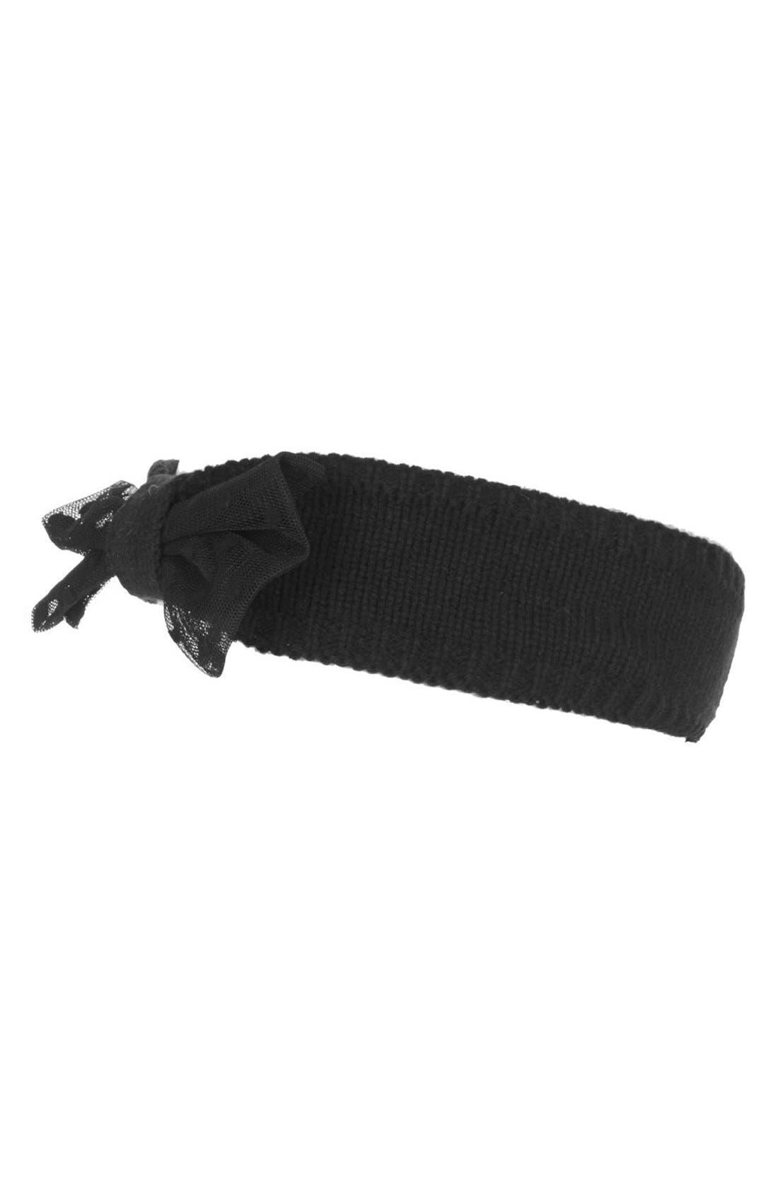 Main Image - Topshop Net Bow Headband