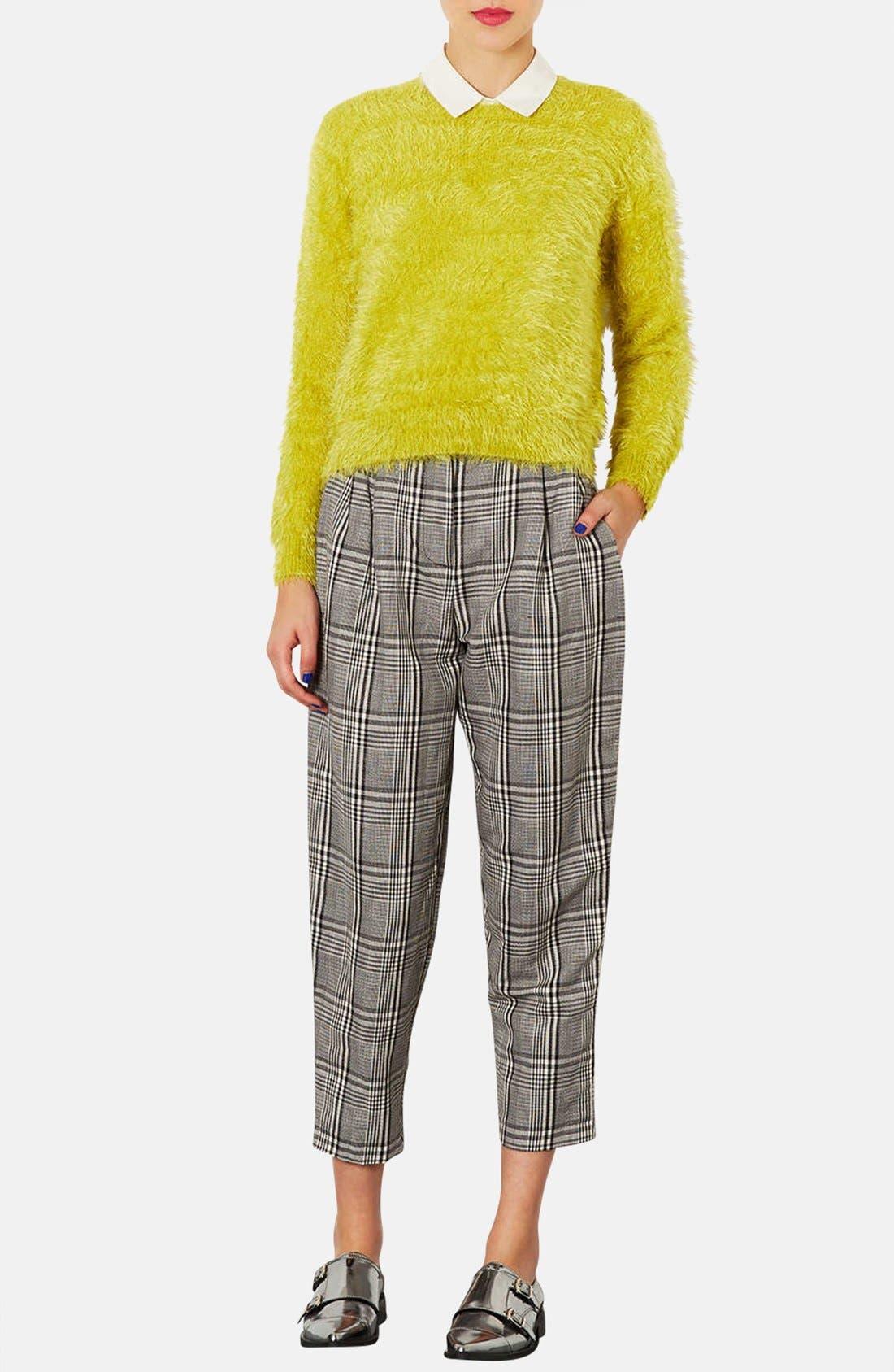 Alternate Image 4  - Topshop Textured Crewneck Sweater (Petite)