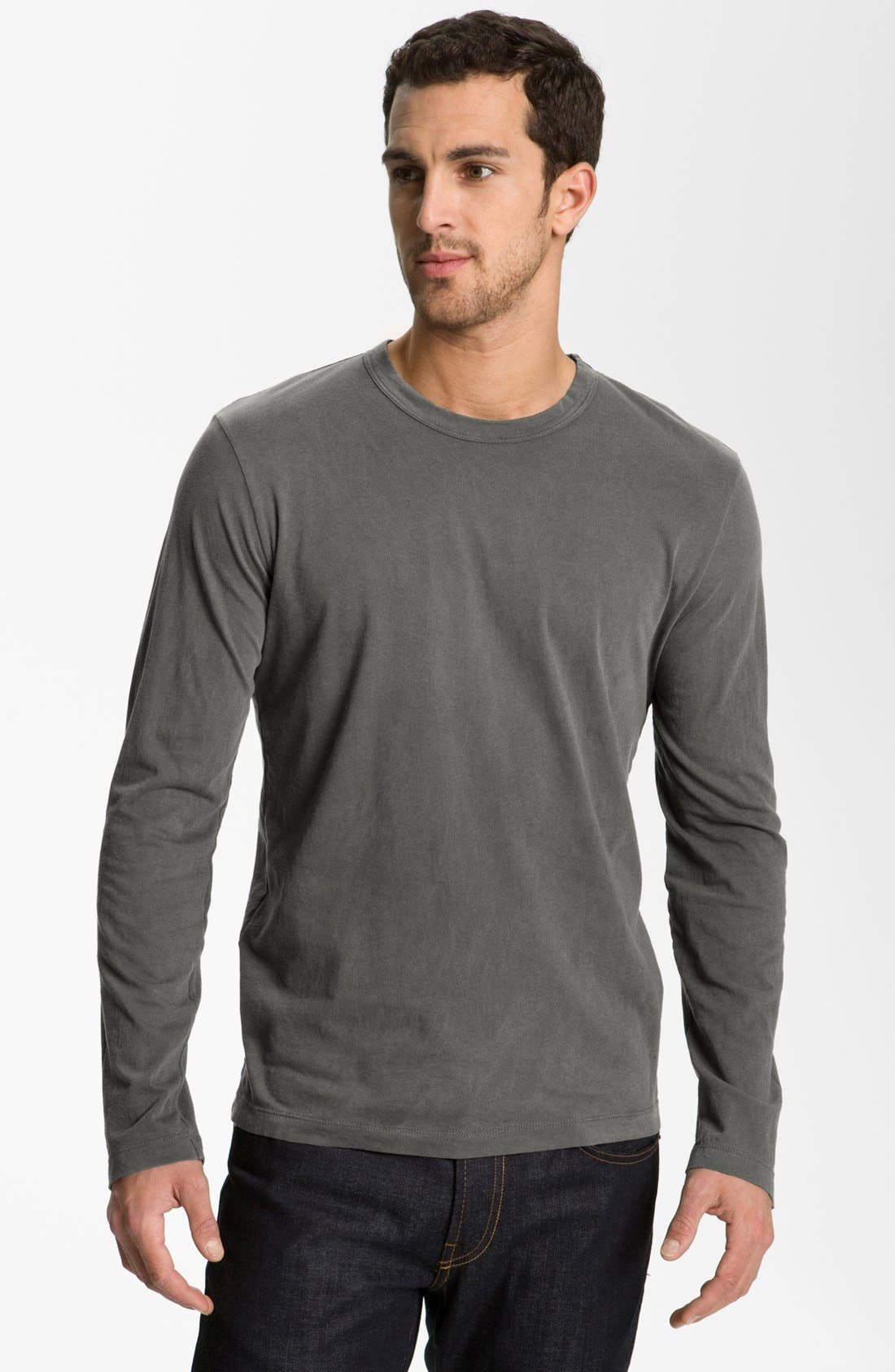 Main Image - James Perse Long Sleeve Crewneck T-Shirt