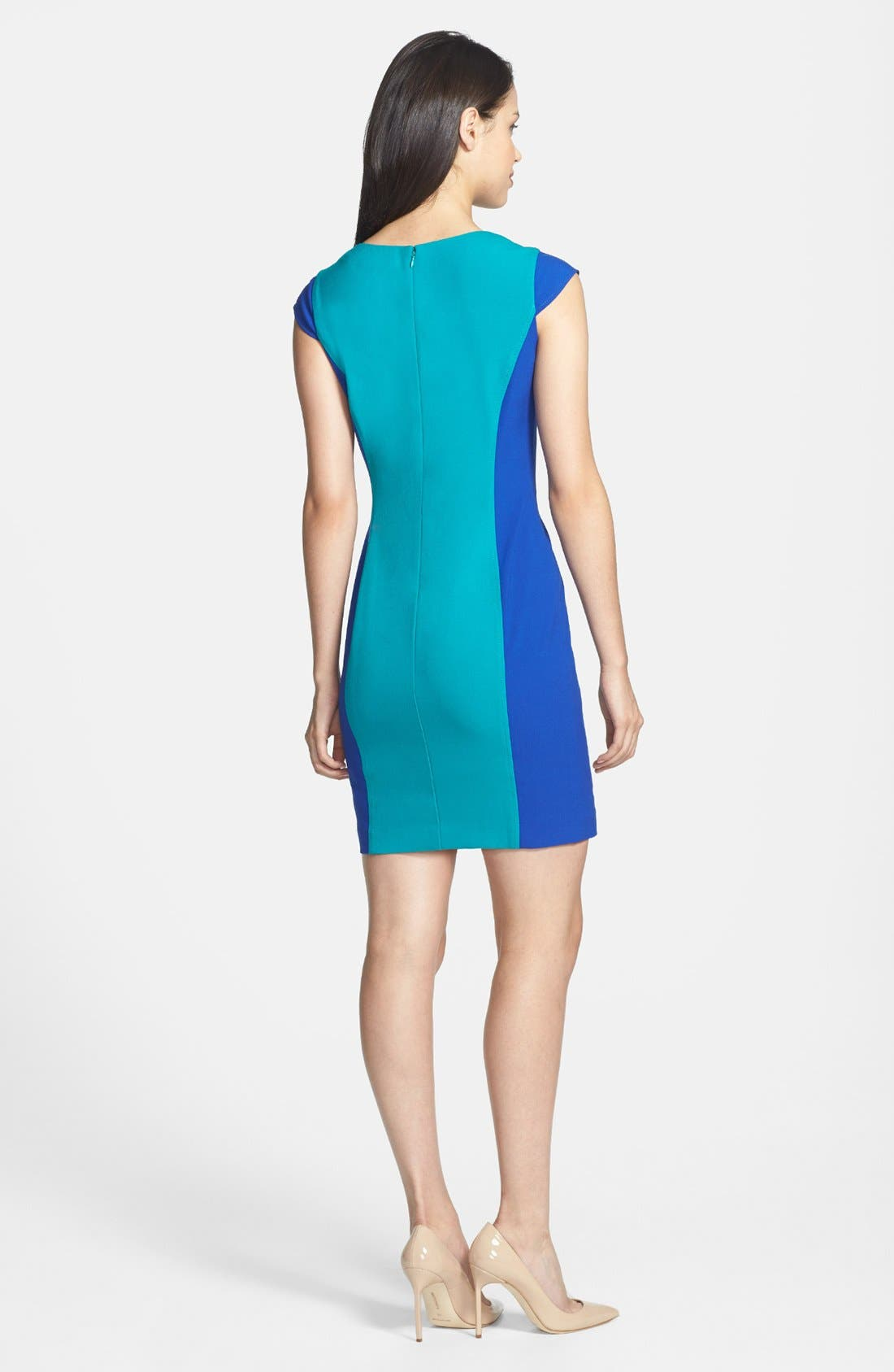 Alternate Image 2  - Marc New York by Andrew Marc Colorblock Sheath Dress