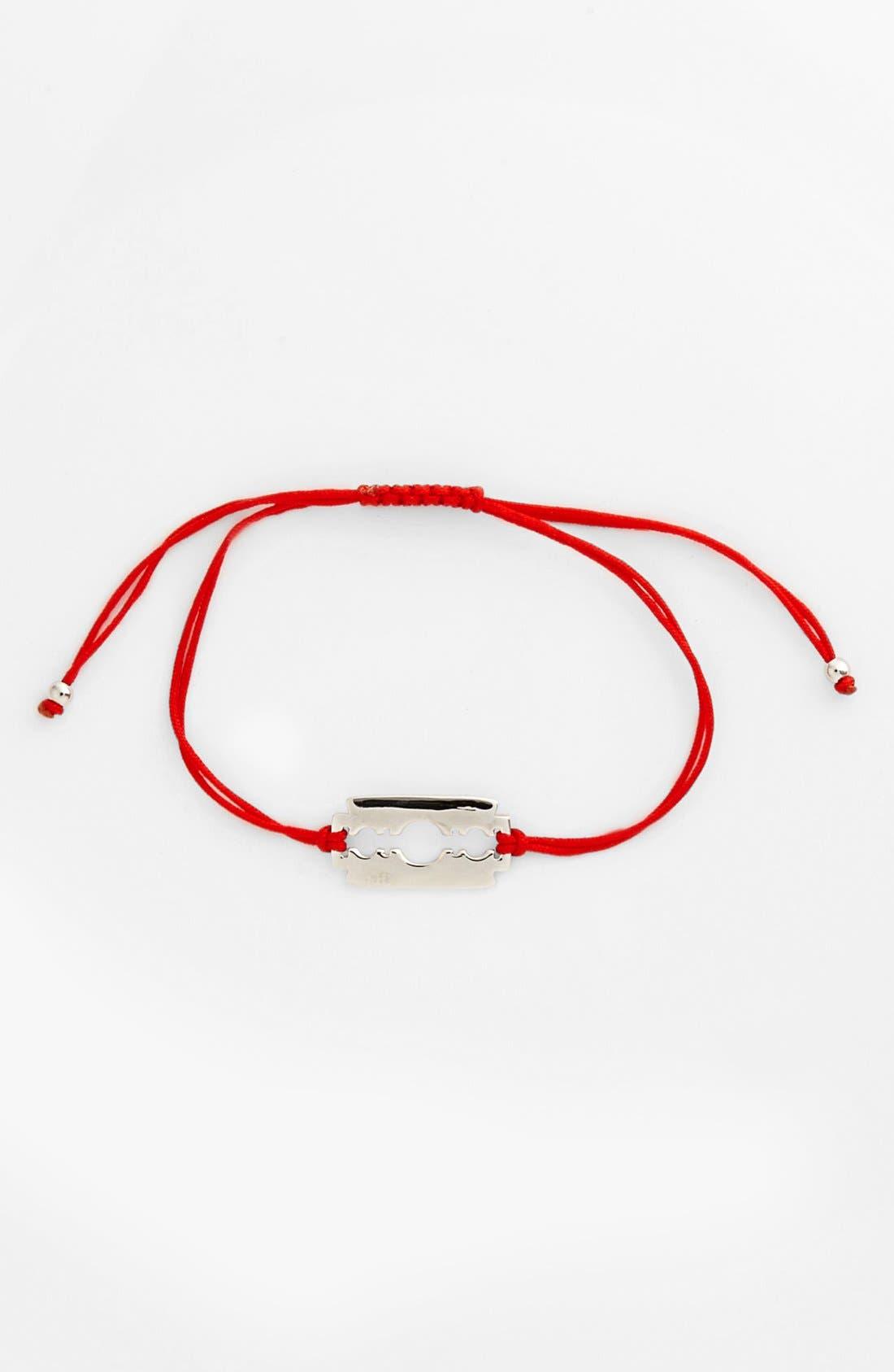 Alternate Image 1 Selected - Mateo Bijoux 'Razor Blade' Cord Bracelet