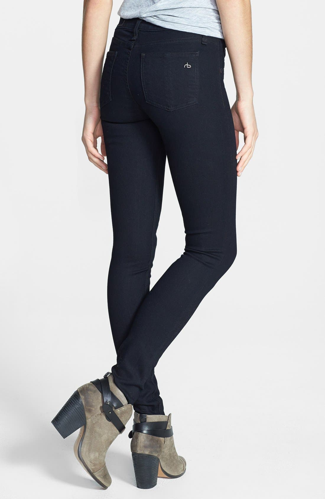 Alternate Image 2  - rag & bone/JEAN 'The Legging' Stretch Denim Leggings