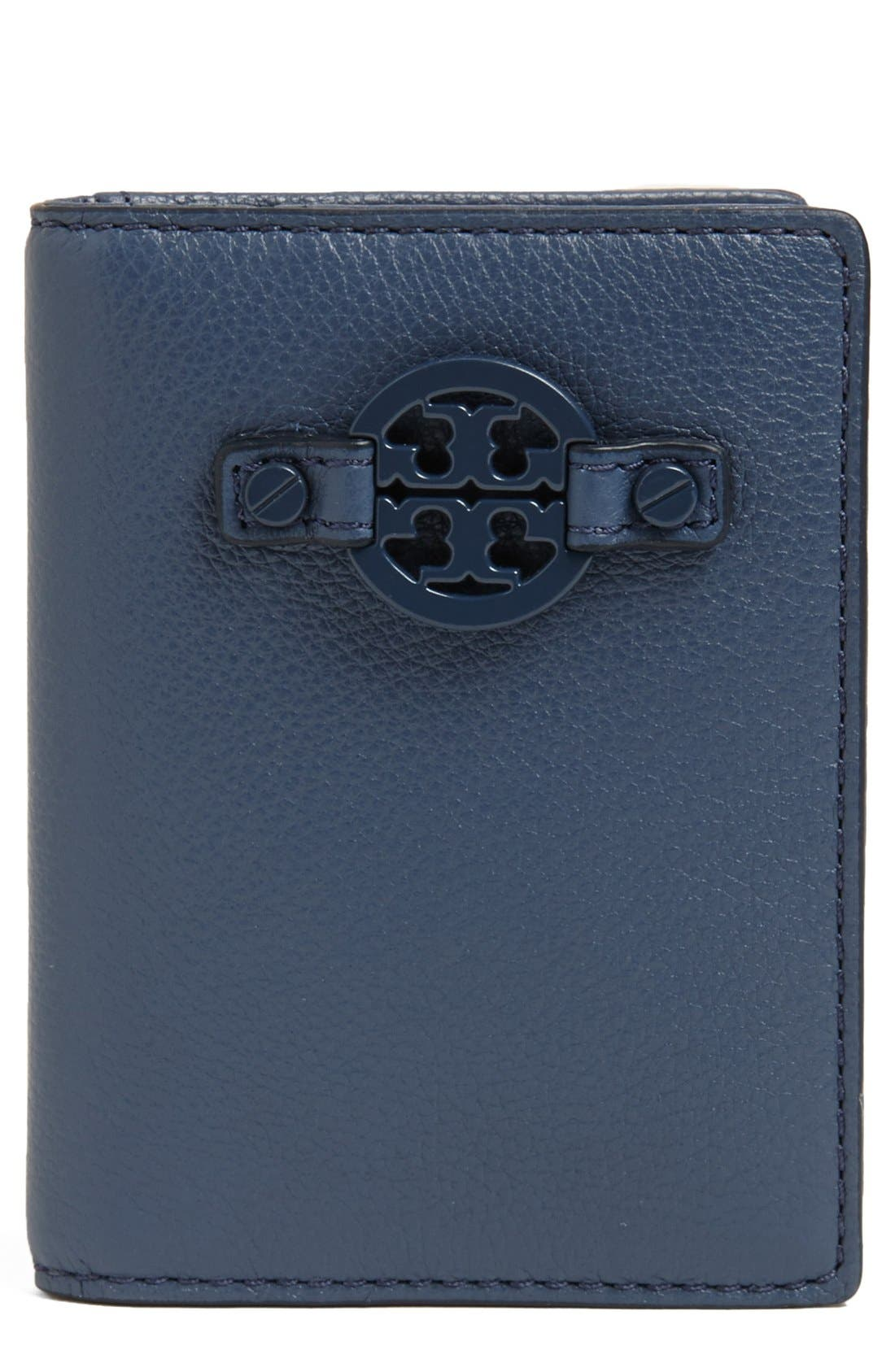 Alternate Image 1 Selected - Tory Burch 'Amanda' Leather Card Case