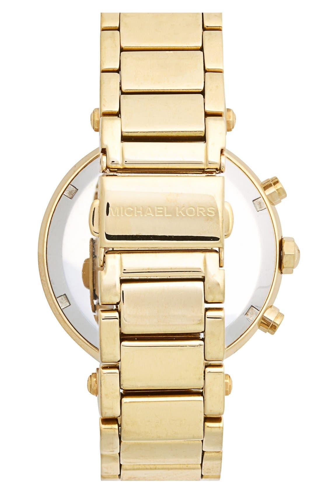 Michael Kors 'Parker' Chronograph Bracelet Watch, 39mm,                             Alternate thumbnail 2, color,                             Gold