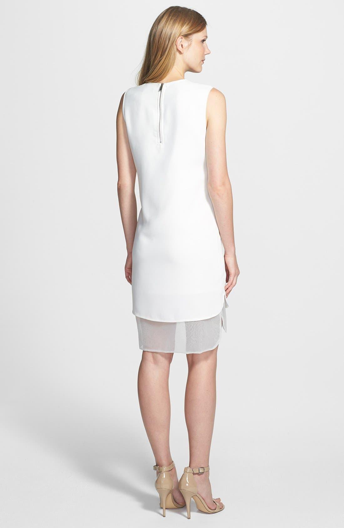Alternate Image 2  - Vince Camuto Organza Trim Sheath Dress