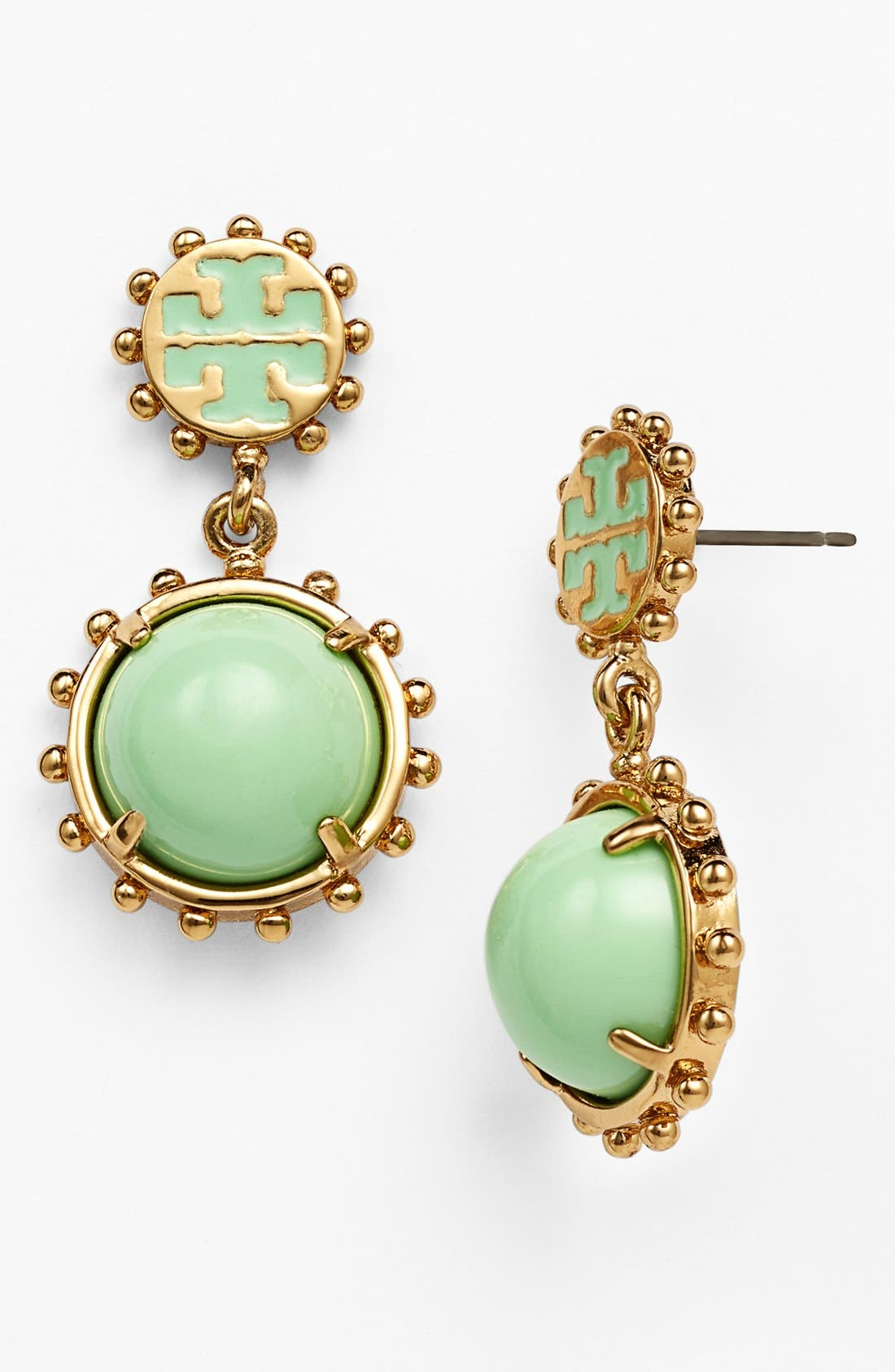 Alternate Image 1 Selected - Tory Burch 'Winslow' Logo Drop Earrings