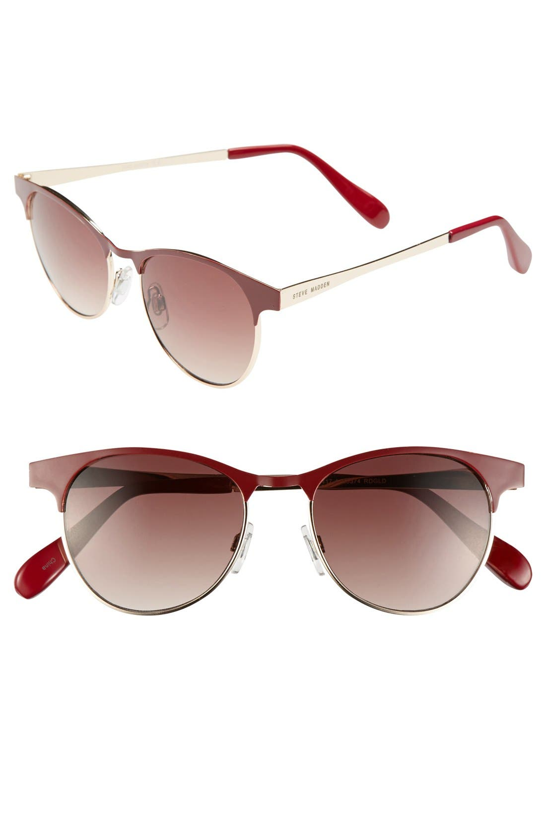 Main Image - Steve Madden 49mm Retro Sunglasses