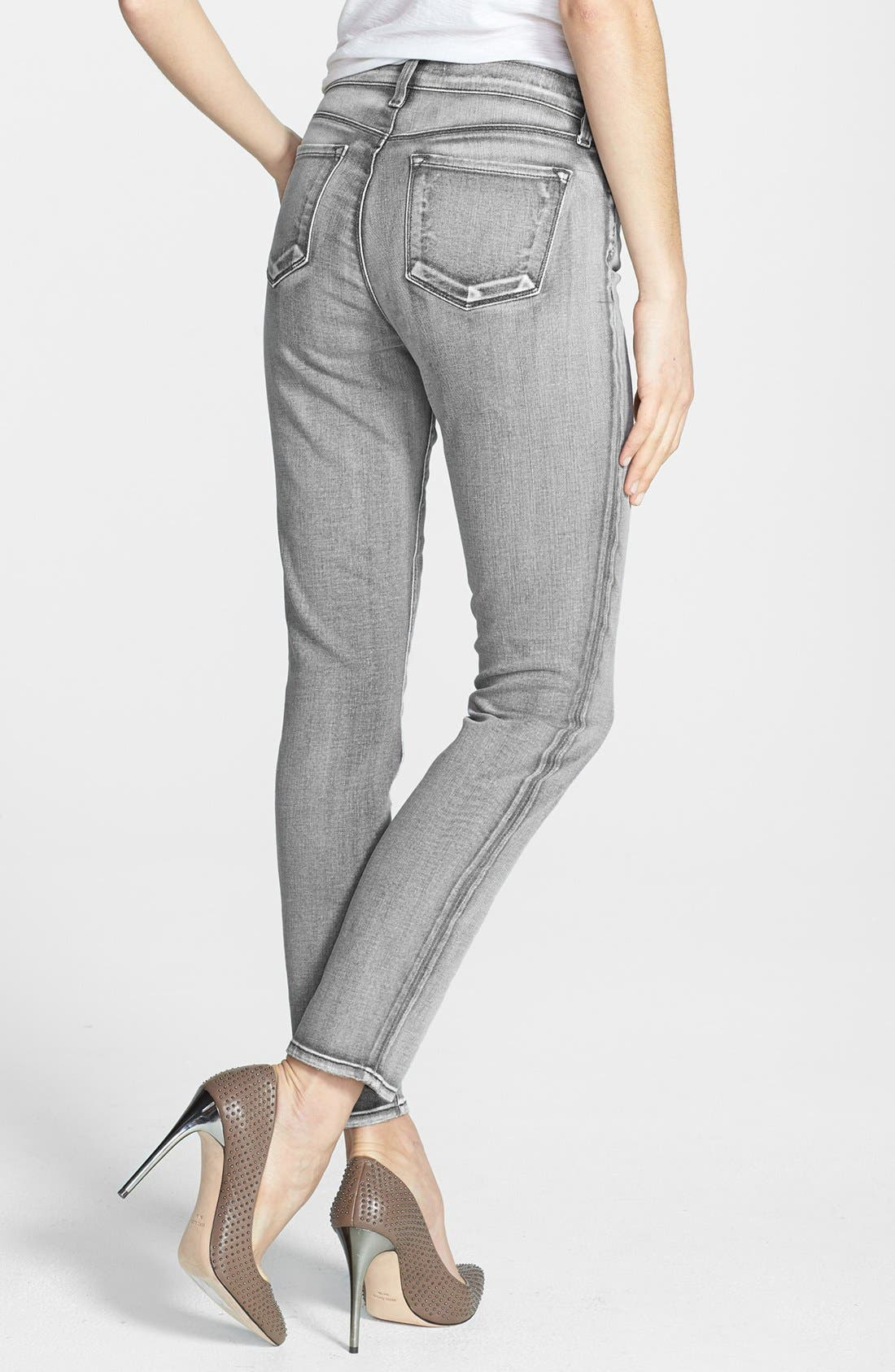 Alternate Image 2  - J Brand '811' Skinny Stretch Ankle Jeans (Smoked Pearl)