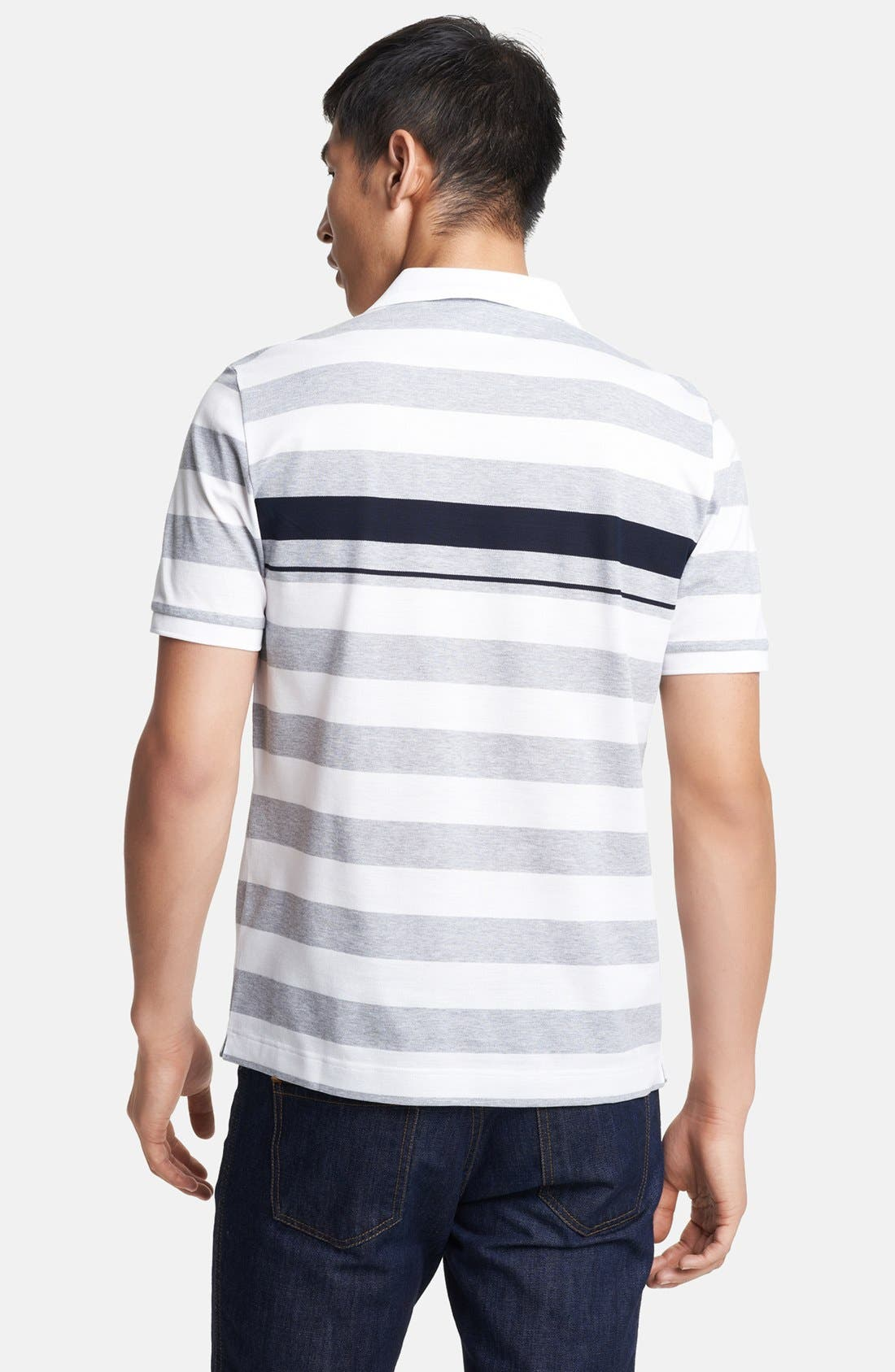 Alternate Image 2  - Salvatore Ferragamo Trim Fit Stripe Polo