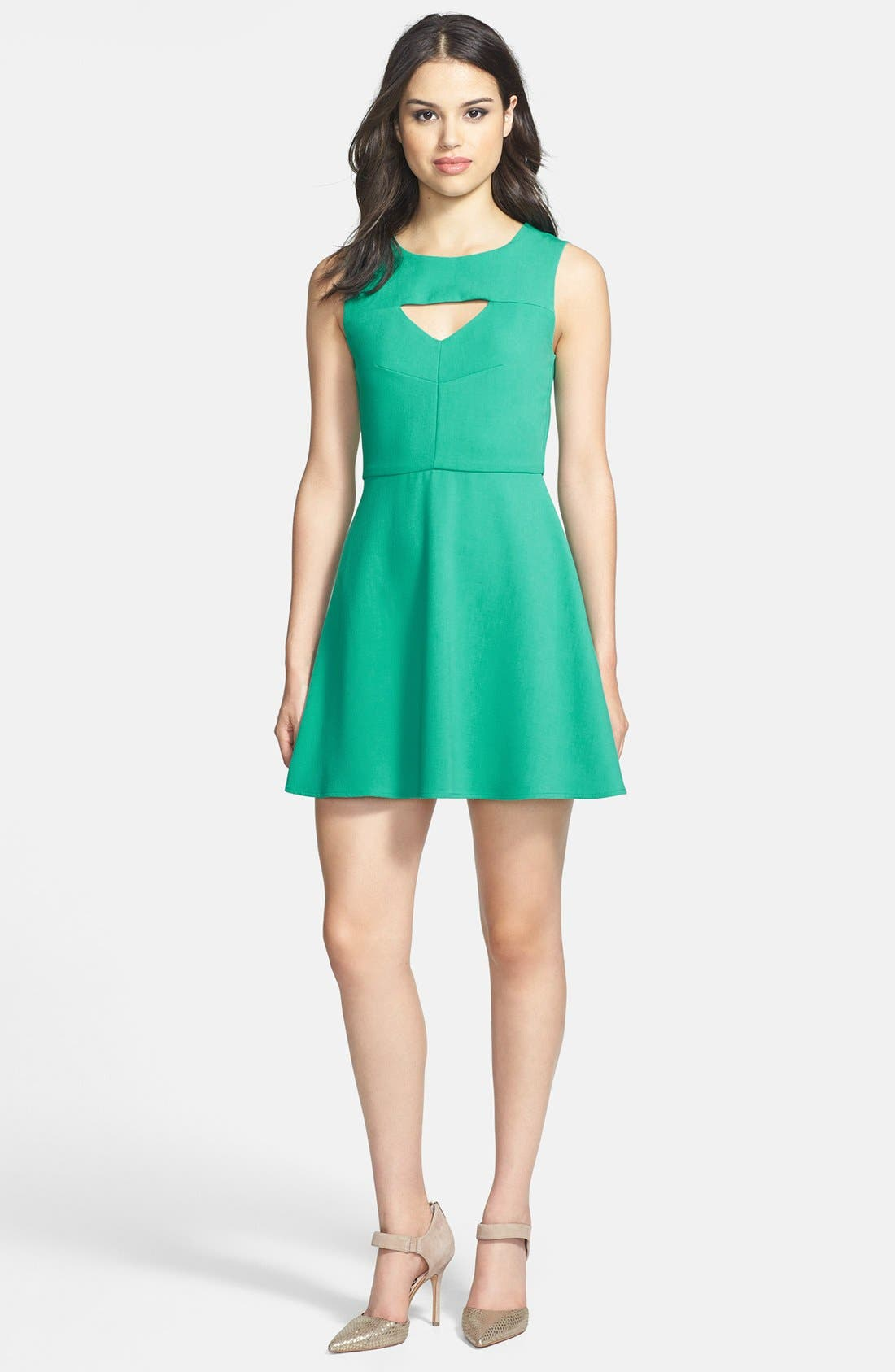 Main Image - French Connection 'Feather Ruth' Ponte Fit & Flare Dress