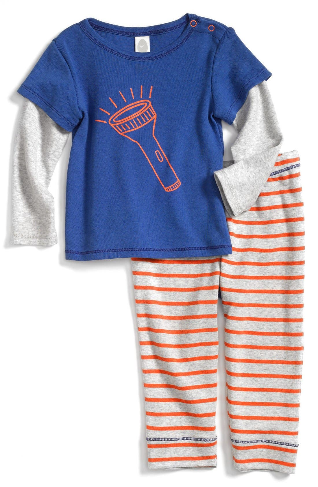 Alternate Image 1 Selected - Stem Baby Graphic Cotton Top & Pants (Baby Boys)