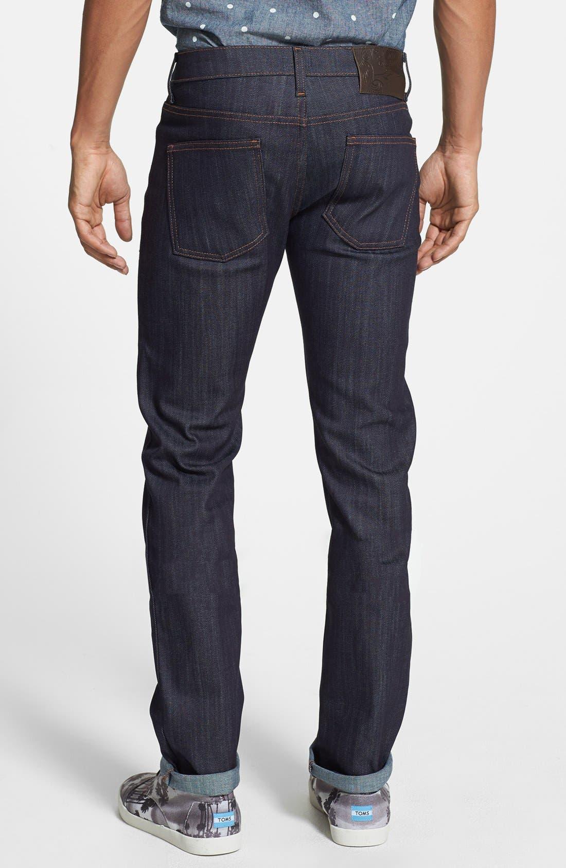 Alternate Image 2  - Naked & Famous Denim 'Skinny Guy' Skinny Fit Jeans (Indigo Power Stretch)