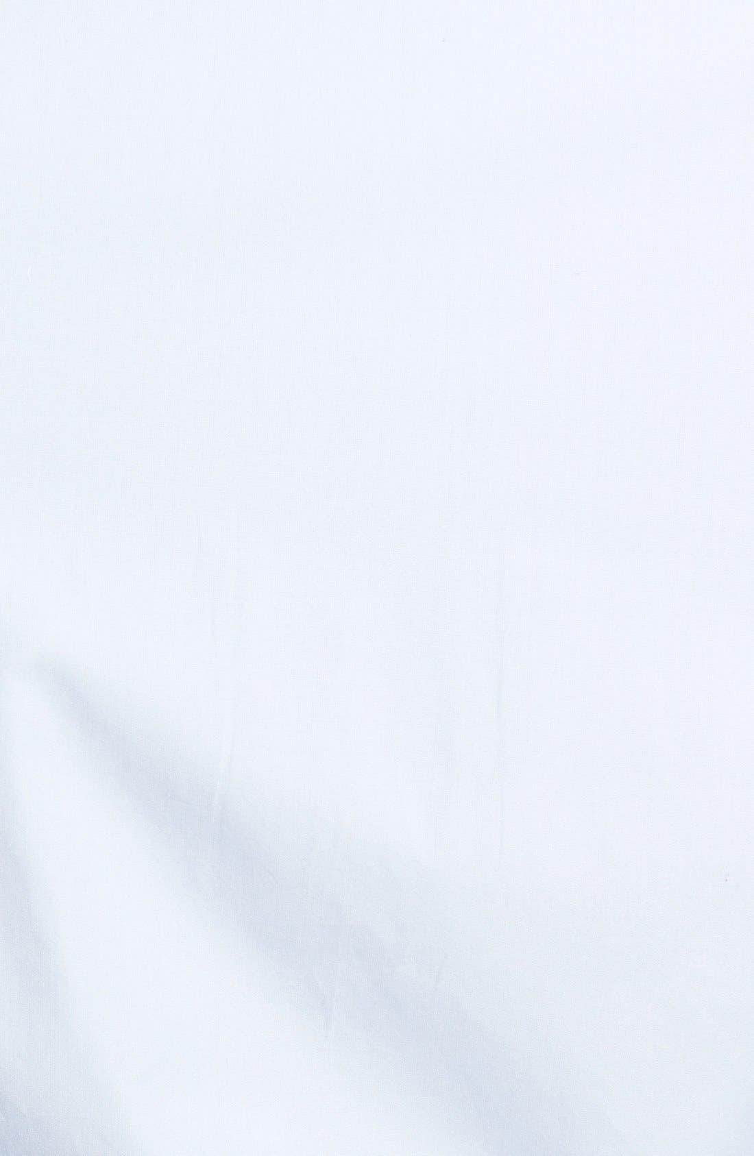 Slim Fit Poplin Dress Shirt,                             Alternate thumbnail 2, color,                             Blue