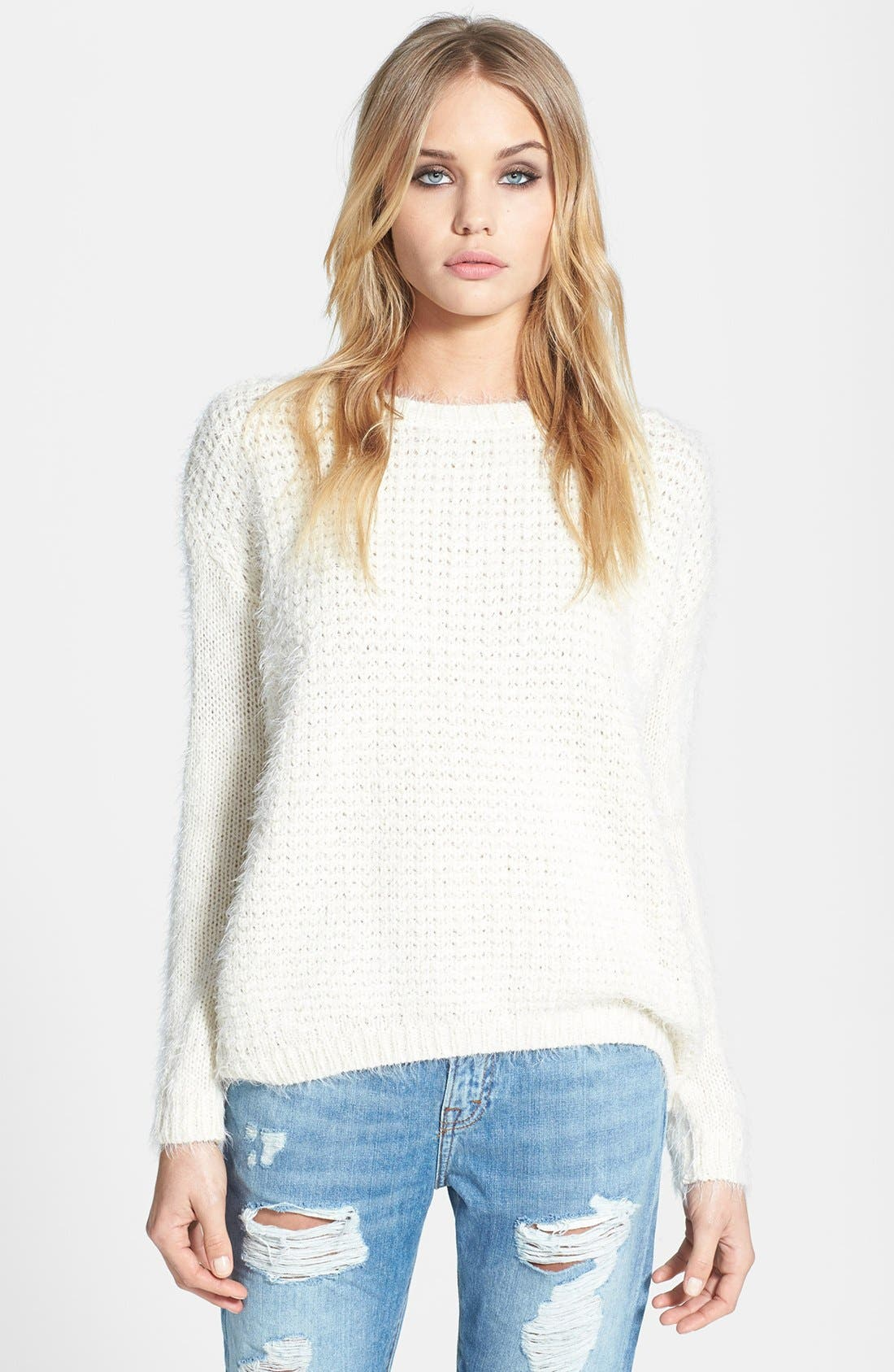 Alternate Image 1 Selected - Topshop 'Monster Stitch' Textured Knit Sweater