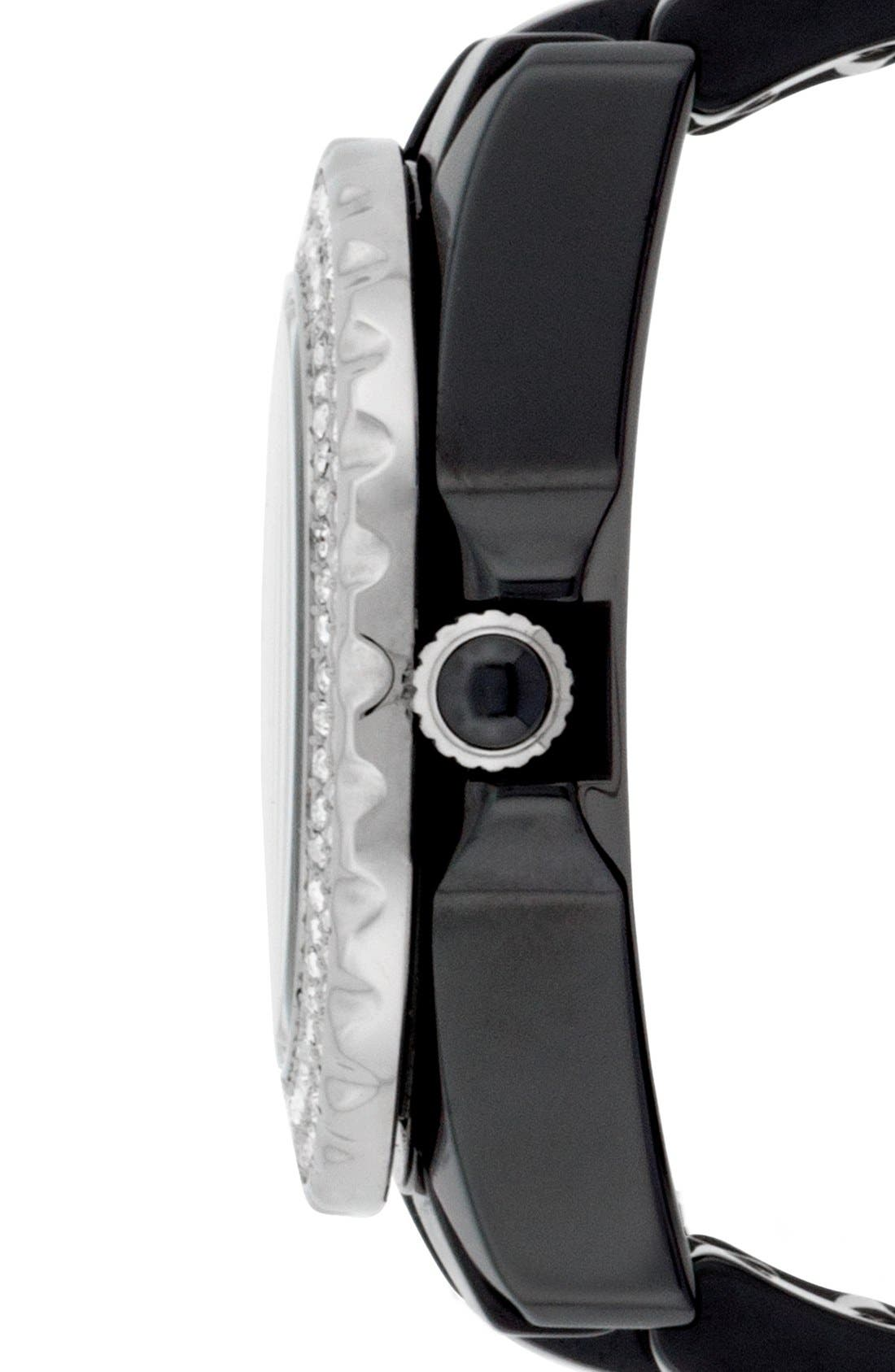 Alternate Image 3  - Isaac Mizrahi New York Pavé Bezel Ceramic Bracelet Watch, 38mm