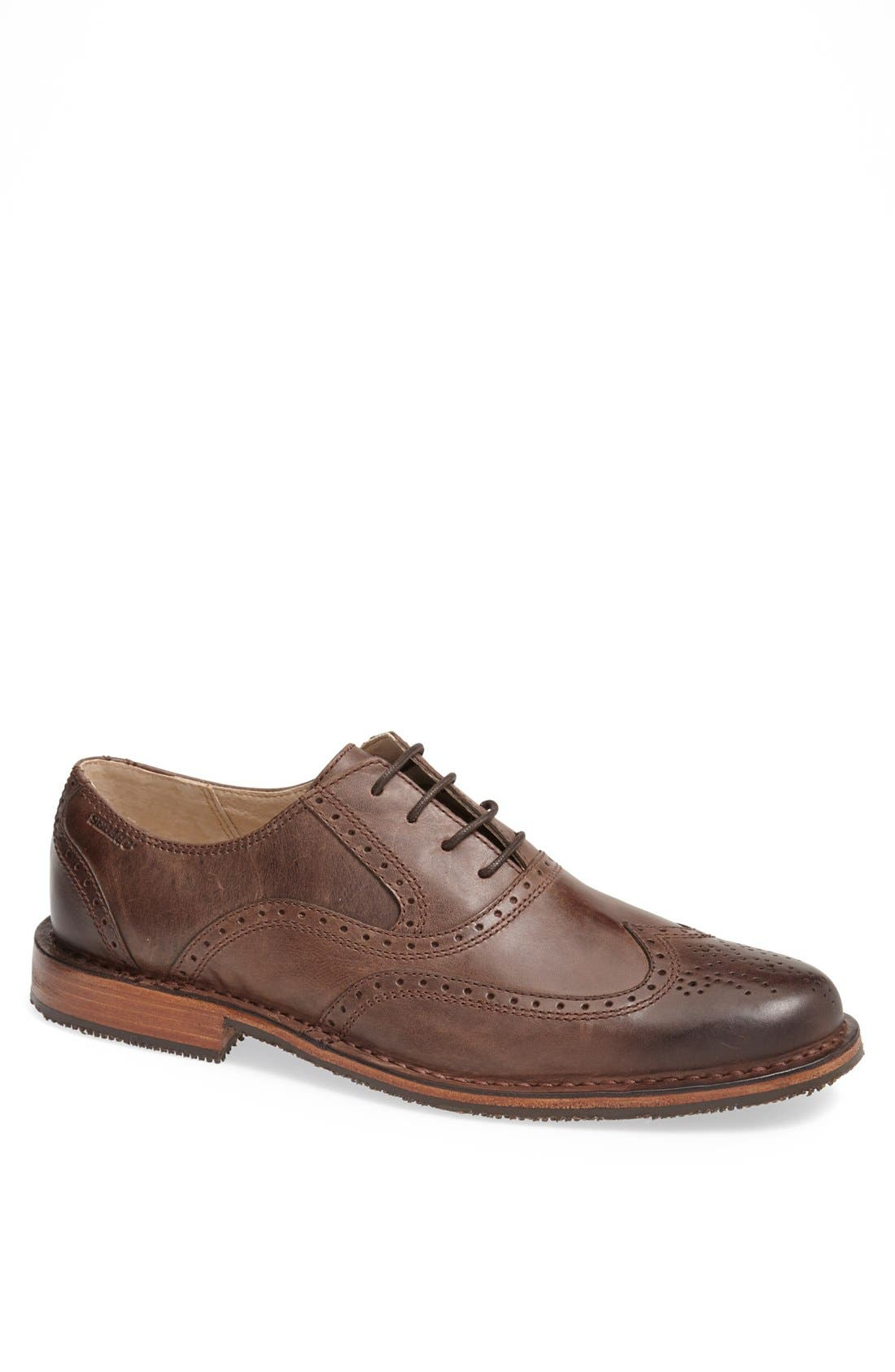 'Brattle' Wingtip Oxford, Main, color, Dark Brown
