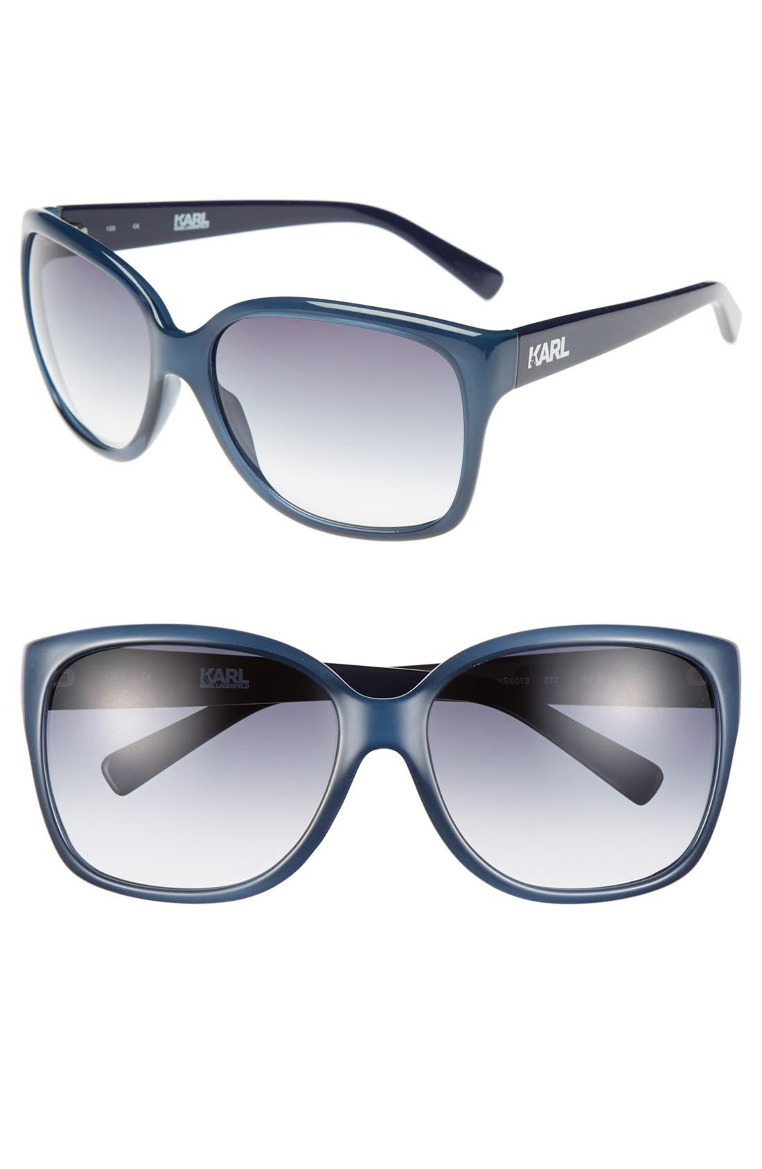 Alternate Image 1 Selected - Karl Lagerfeld 59mm Rectangular Sunglasses