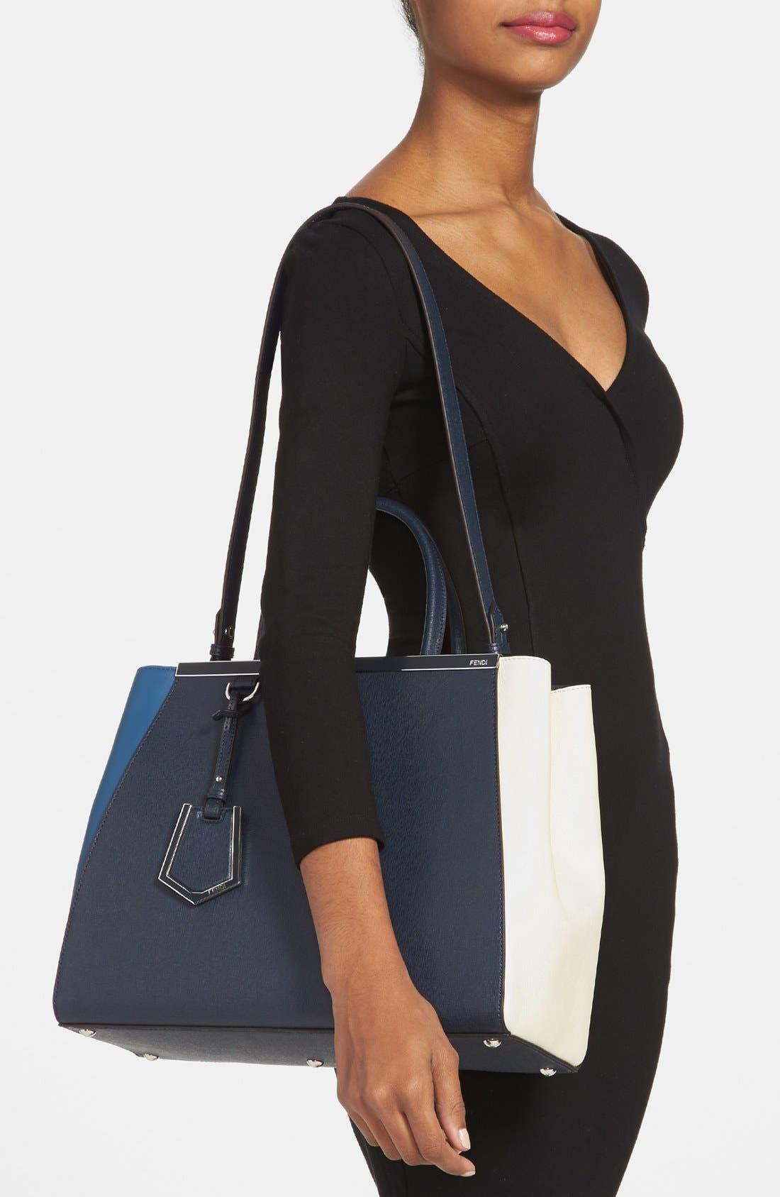 Alternate Image 2  - Fendi 'Medium 2Jours Tricolor' Leather Shopper