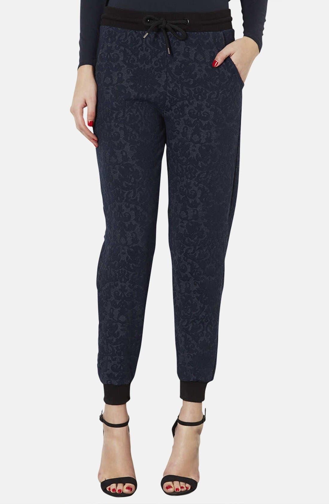 Alternate Image 1 Selected - Topshop Jacquard Jersey Track Pants
