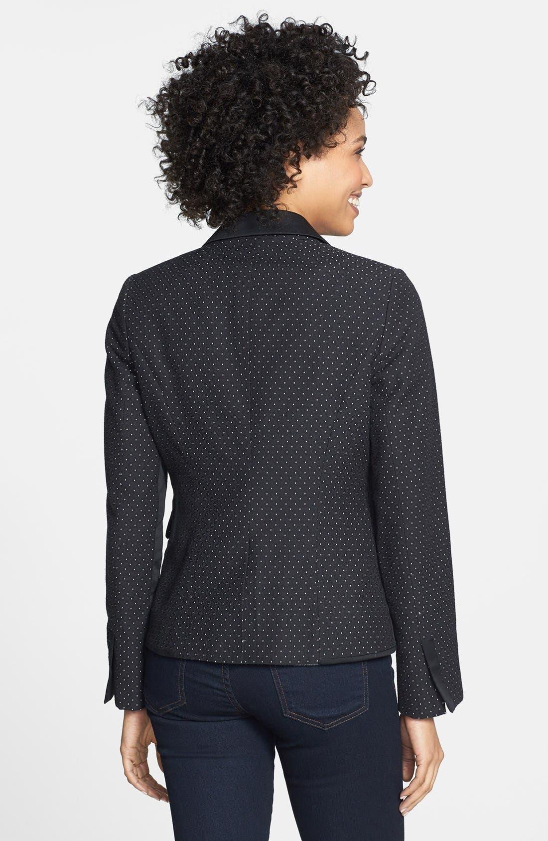 Alternate Image 2  - Adrianna Papell Contrast Trim Jacquard Jacket