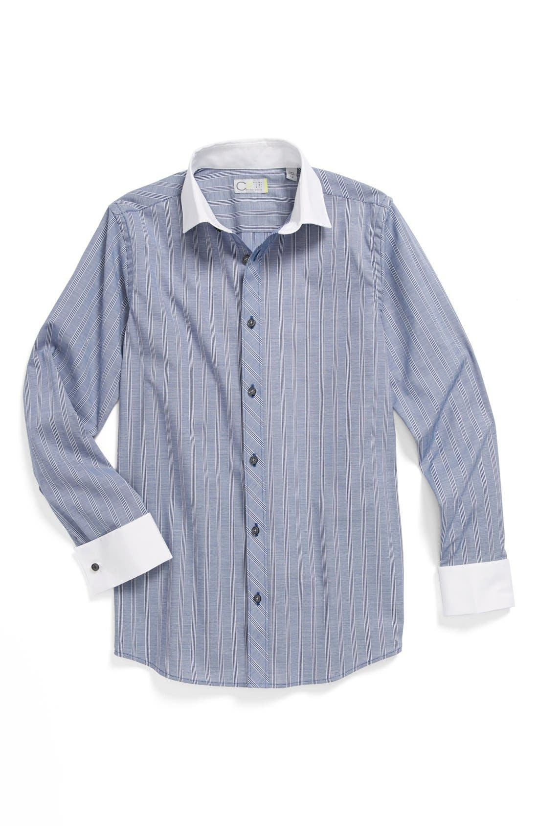 Alternate Image 1 Selected - C2 by Calibrate Stripe Dress Shirt (Big Boys)