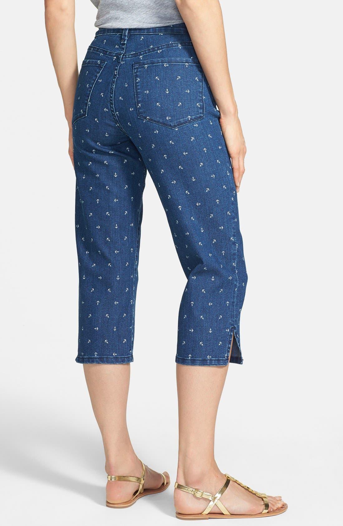 Alternate Image 2  - NYDJ 'Nanette' Print Stretch Crop Jeans (Topeka)