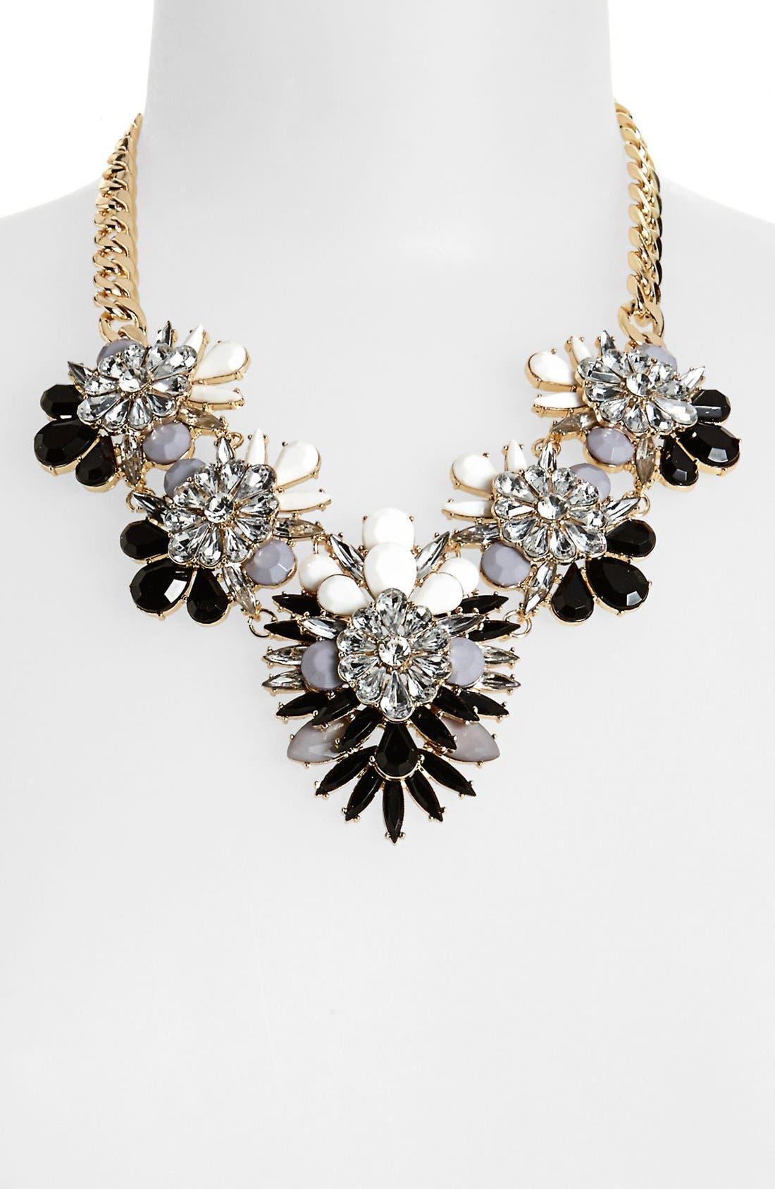 Main Image - Cara Stone & Crystal Bib Necklace