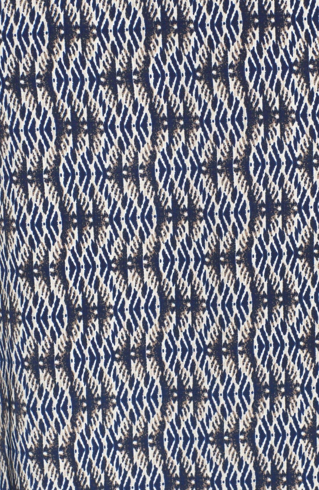 Alternate Image 3  - Olivia Moon Woven Print Raglan Sleeve Tee (Petite)