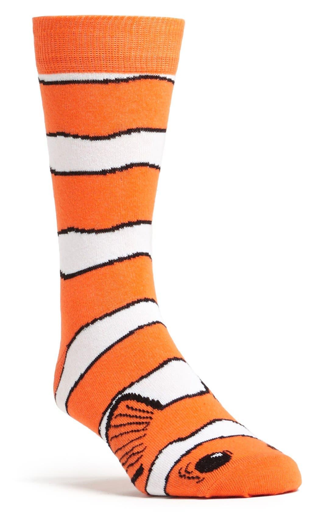 Main Image - Topman Clown Fish Pattern Socks