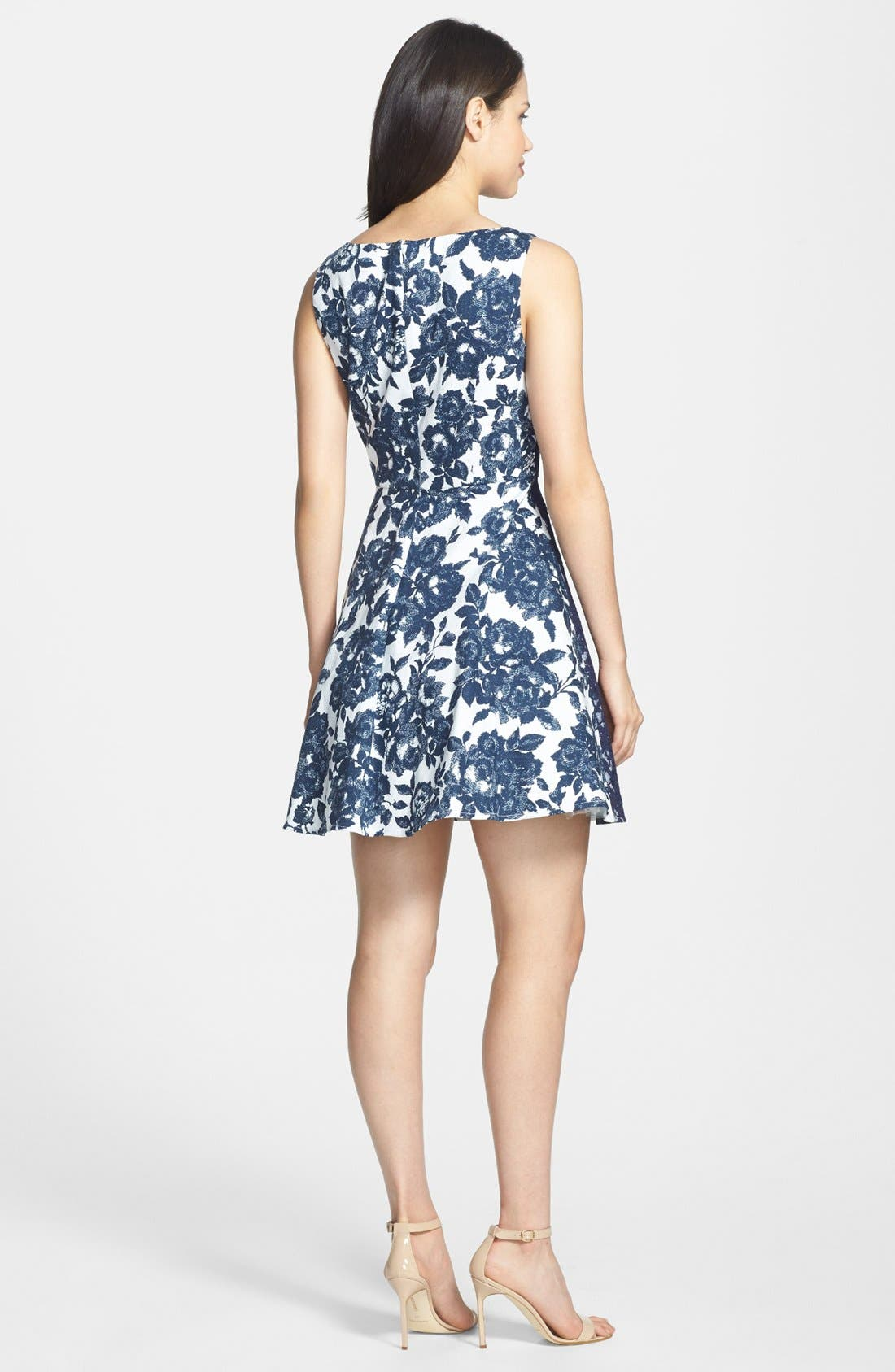 Alternate Image 3  - Jessica Simpson Floral Print Twill Fit & Flare Dress