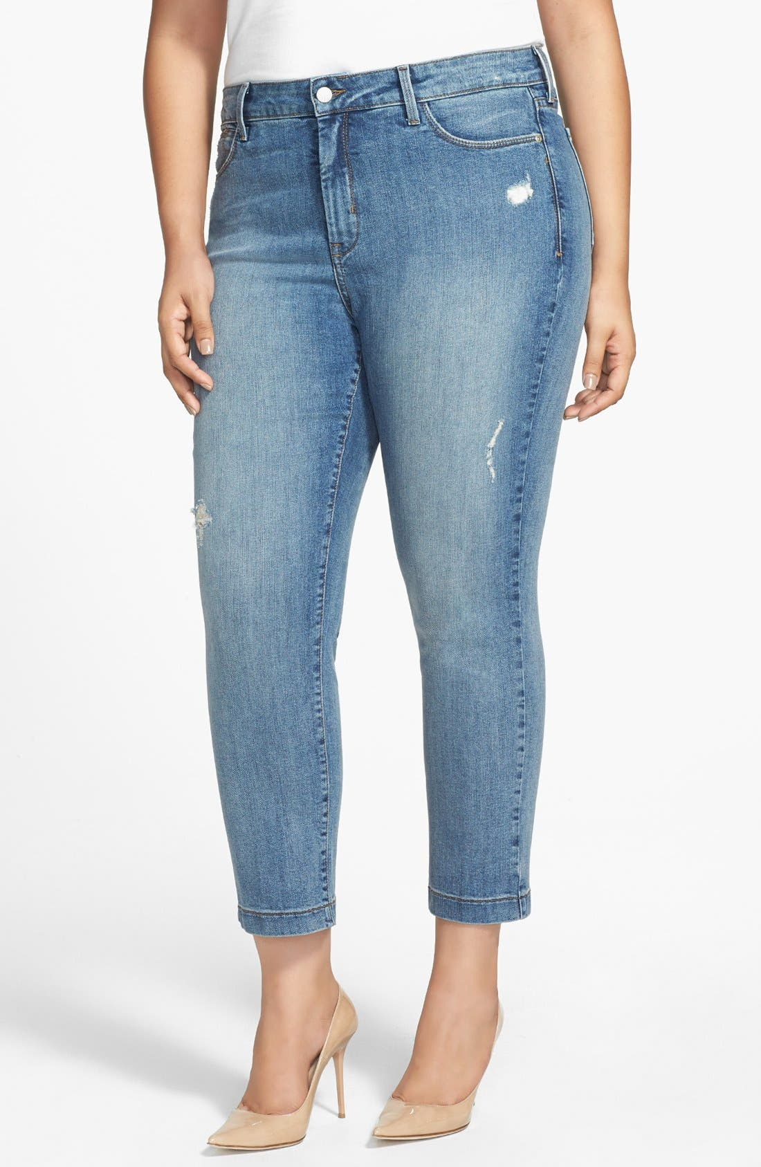 Alternate Image 1 Selected - NYDJ 'Audrey' Stretch Skinny Ankle Jeans (Plus Size)