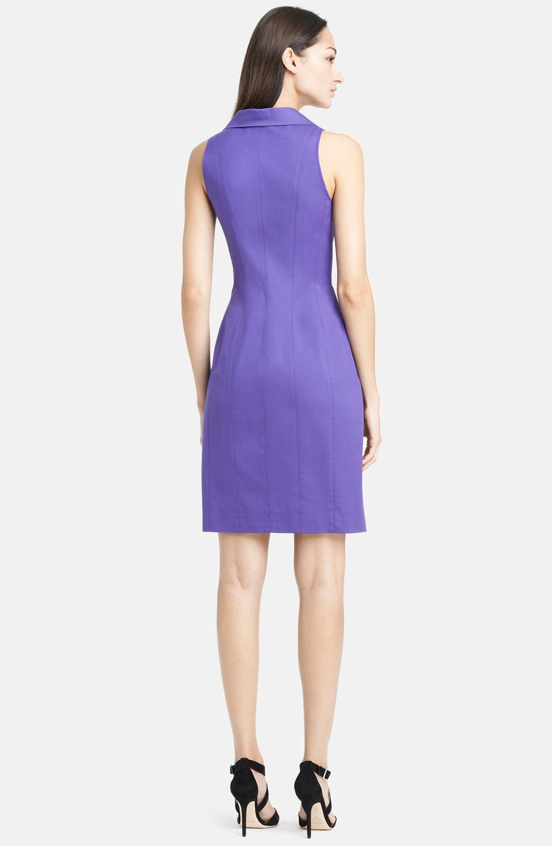 Alternate Image 2  - Armani Collezioni Double Face Stretch Cotton Dress