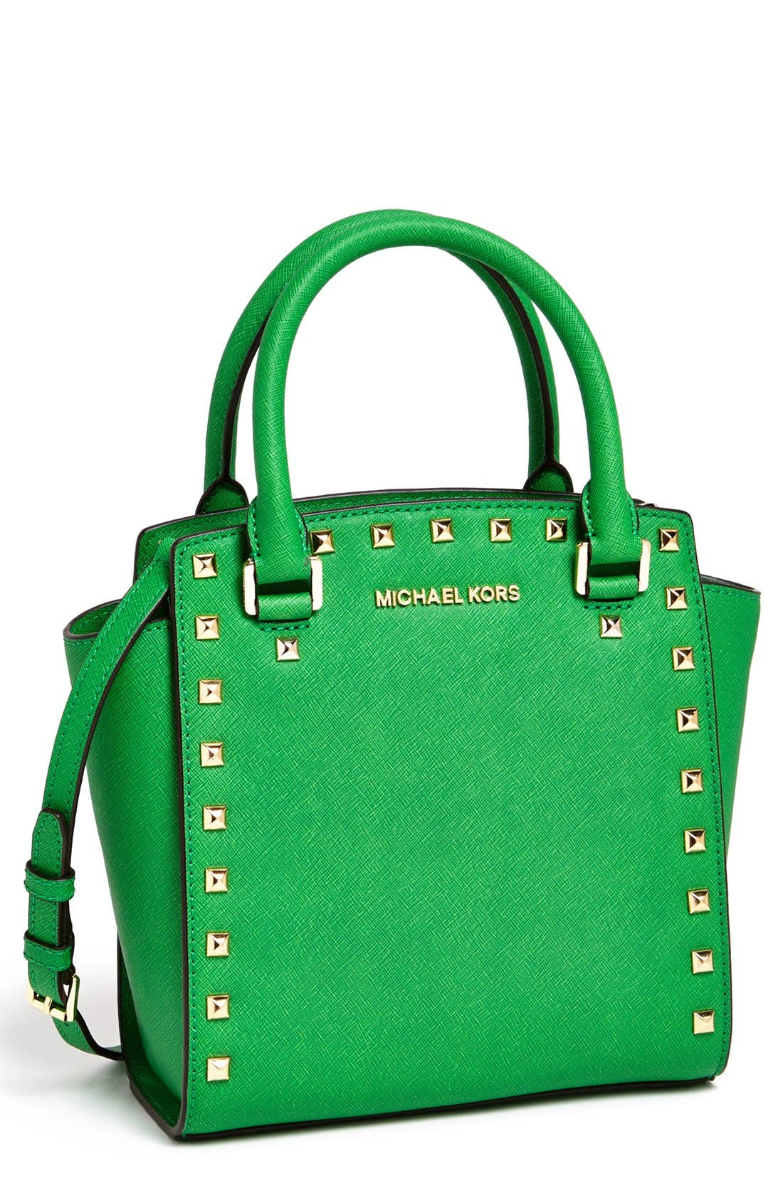 Alternate Image 1 Selected - MICHAEL Michael Kors 'Selma - Large' Leather Crossbody Bag