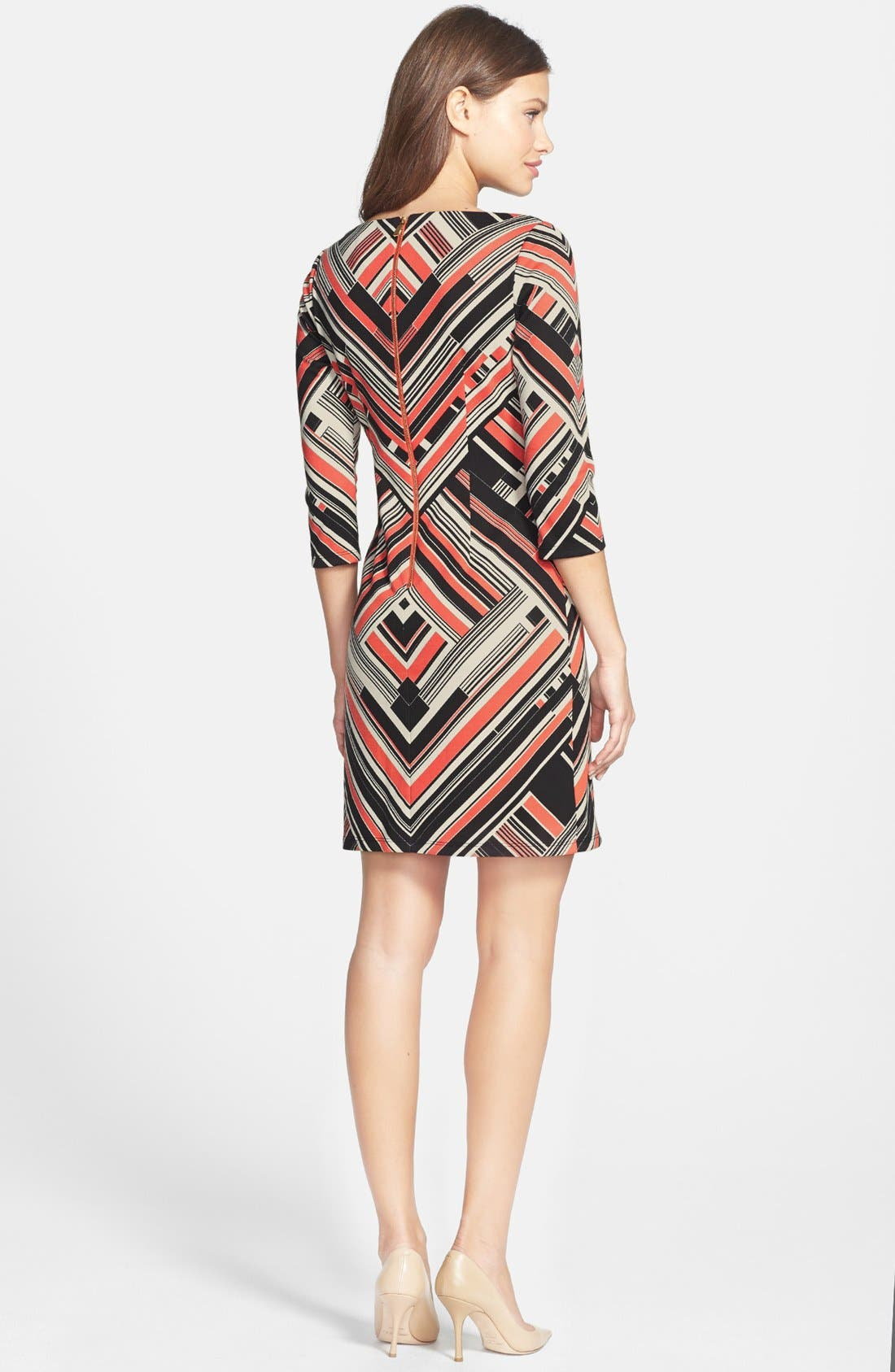 Alternate Image 3  - Vince Camuto Print Ponte Shift Dress