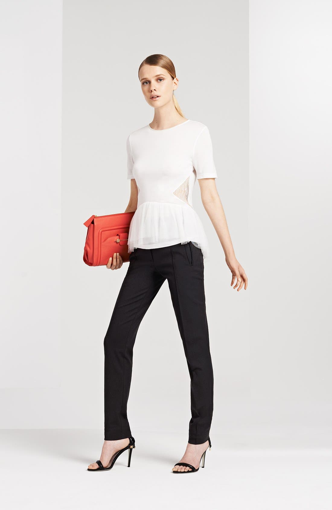 Alternate Image 1 Selected - Jason Wu Lace Peplum Tee, Utility Pants & Accessories