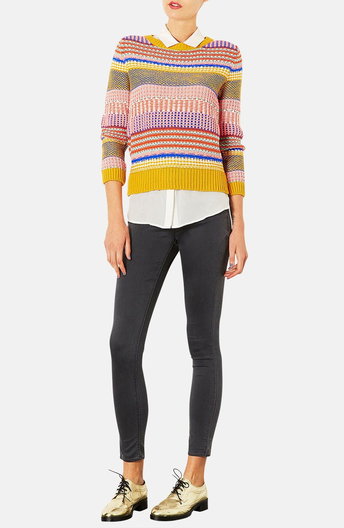Alternate Image 4  - Topshop Moto 'Leigh' Skinny Jeans (Regular & Short)